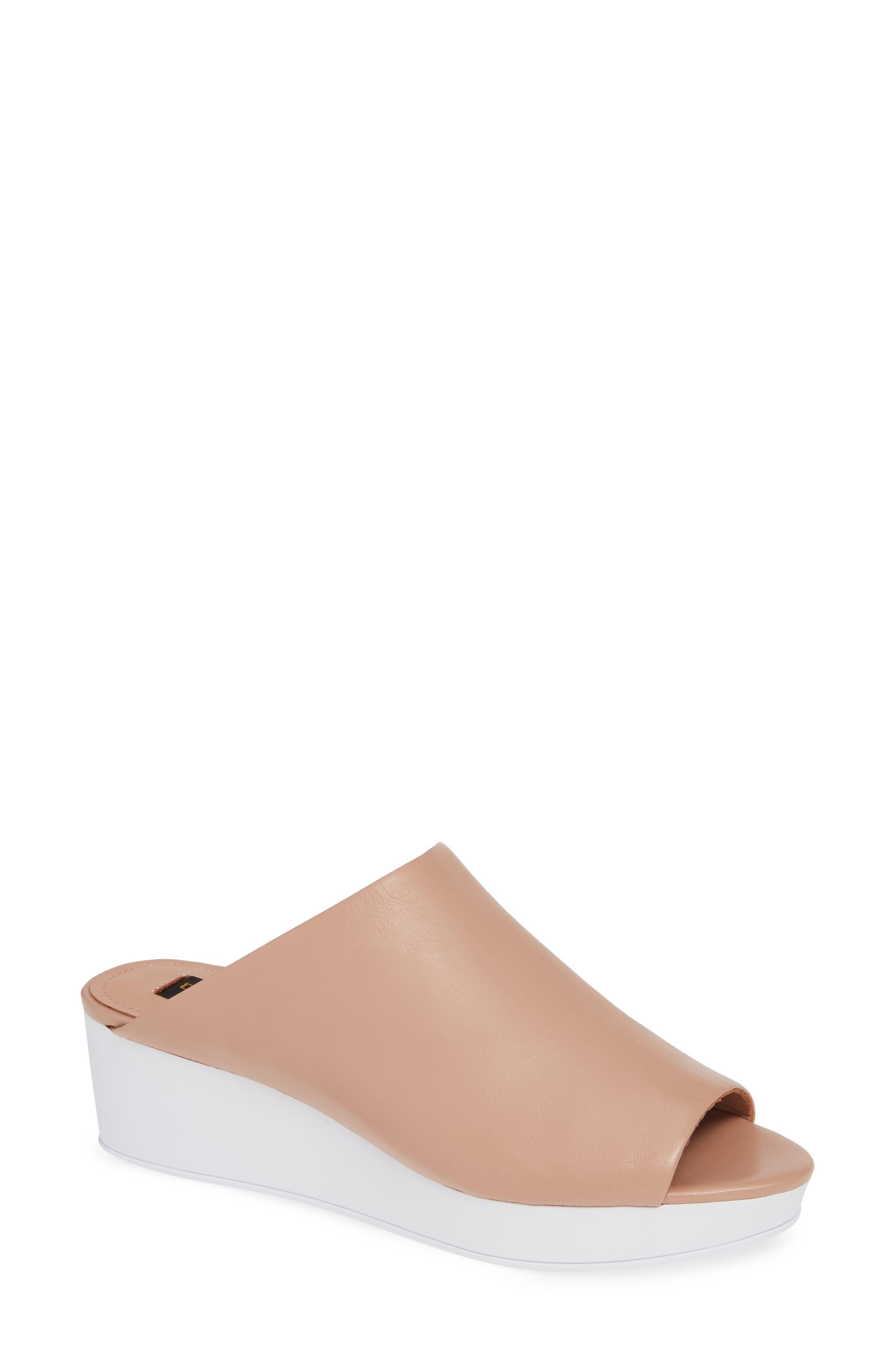 Donna Karan Reisley Wedge Slide Sandal- Pink