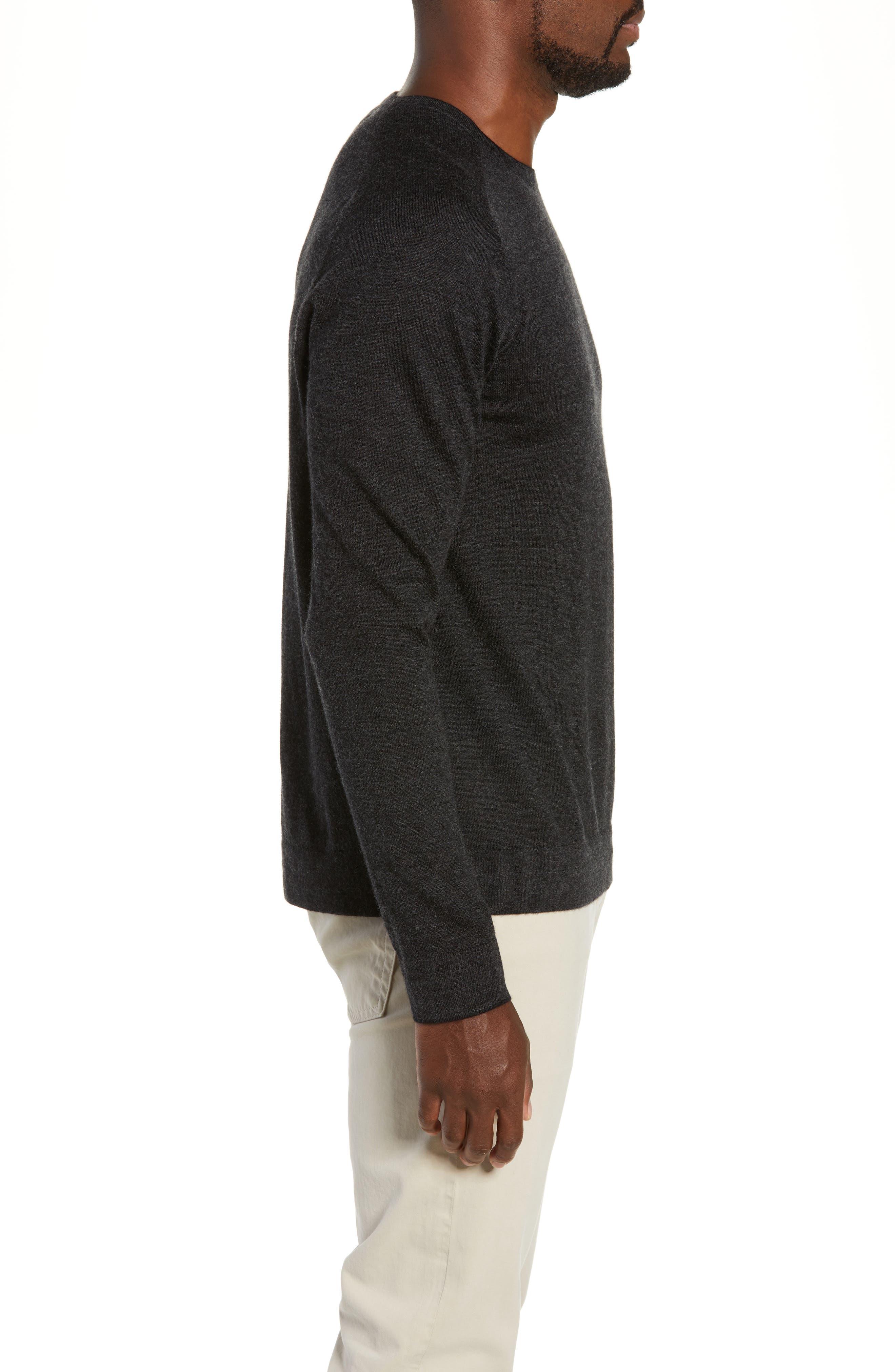 NORDSTROM SIGNATURE,                             Cashmere Crewneck Sweater,                             Alternate thumbnail 3, color,                             030