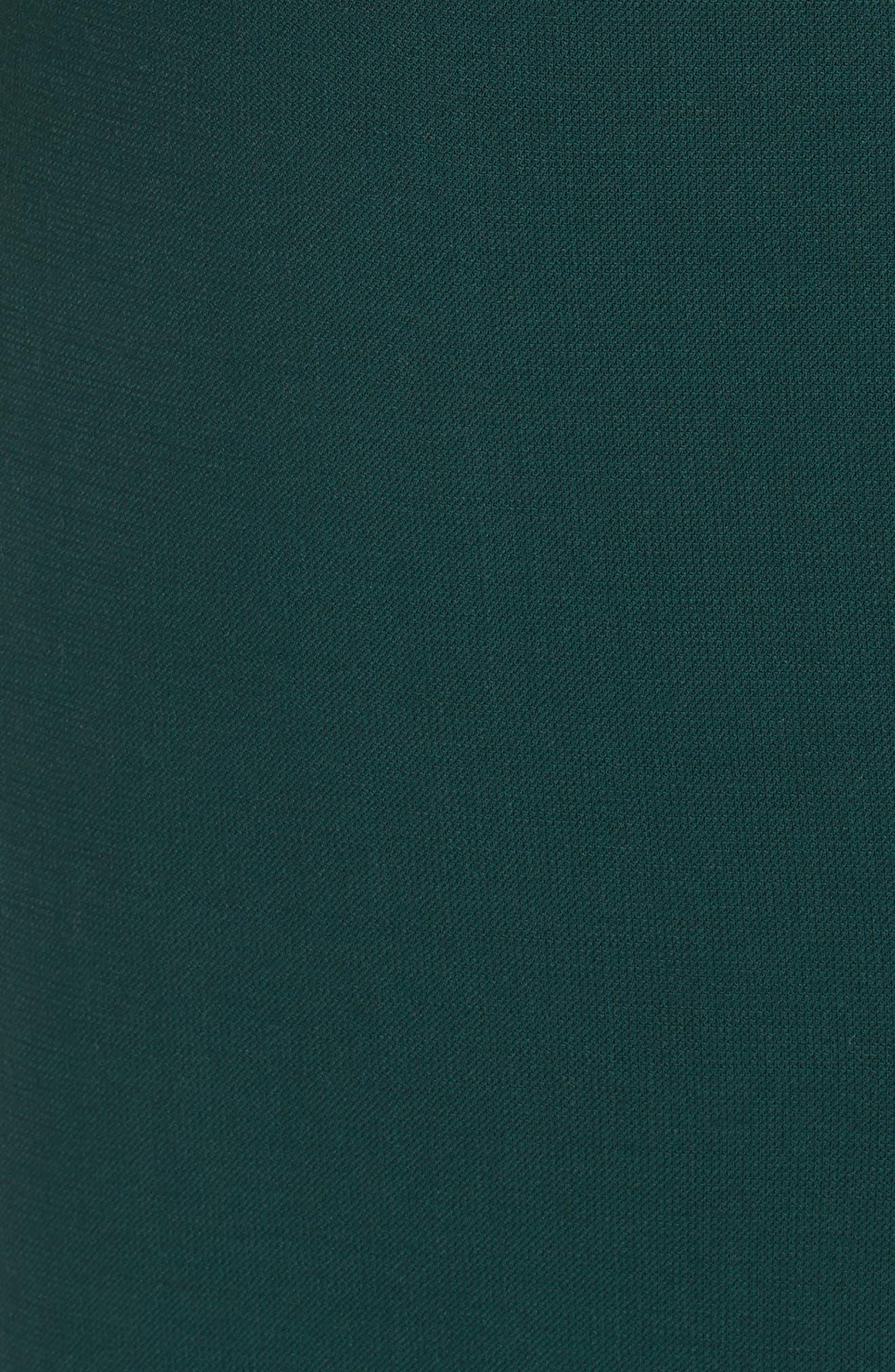 Vanufa Stretch Wool Suit Skirt,                             Alternate thumbnail 5, color,                             PINE GREEN