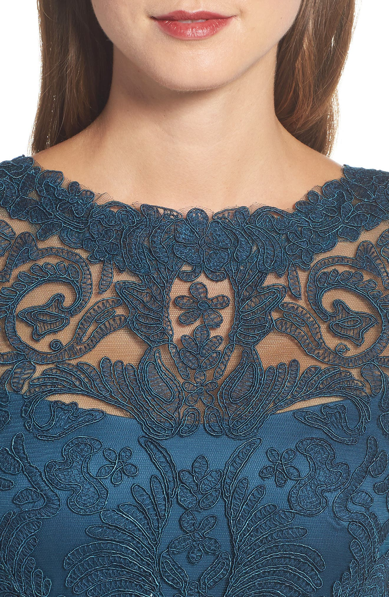 Illusion Yoke Lace Sheath Dress,                             Alternate thumbnail 65, color,