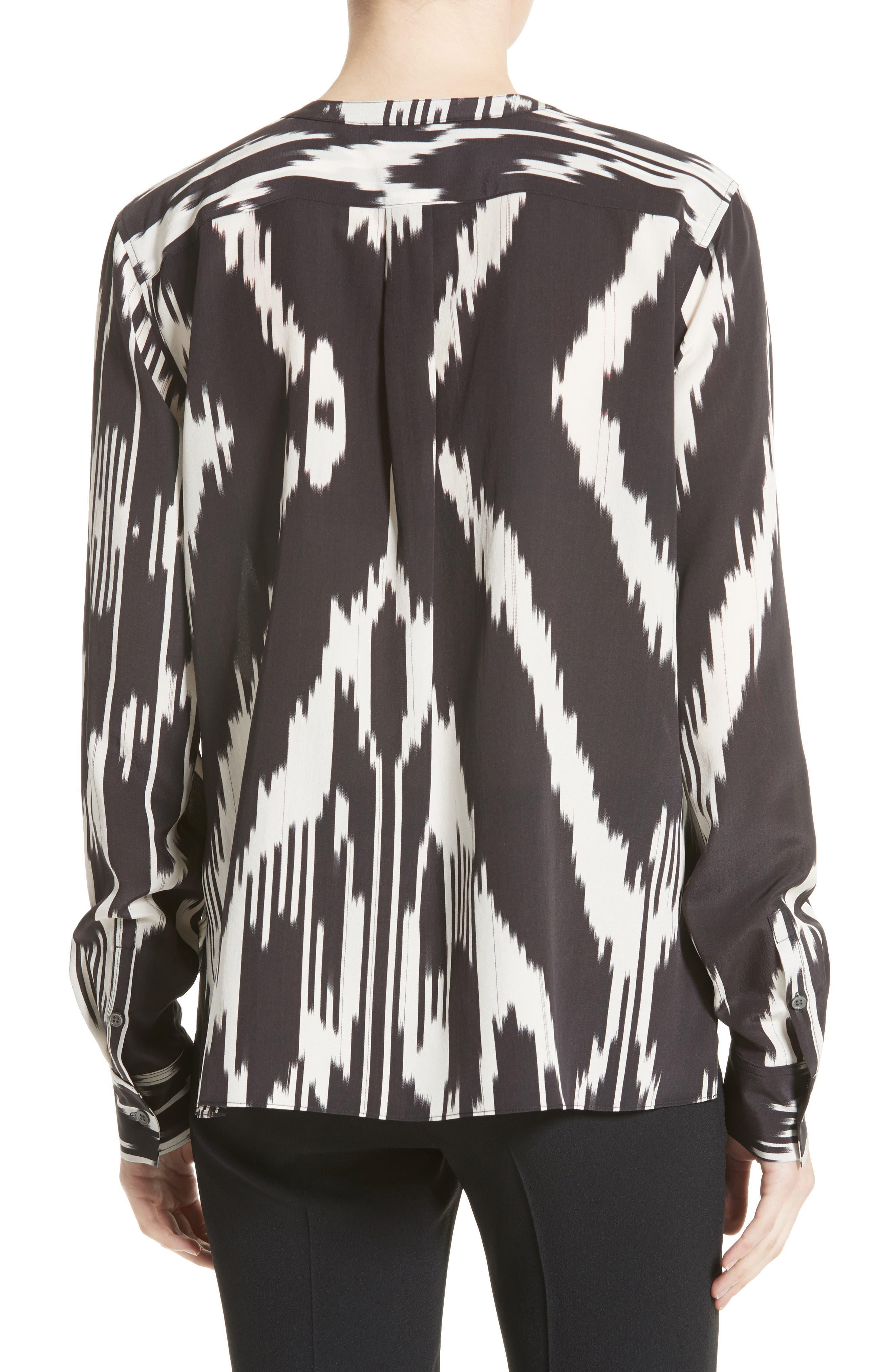 Isalva Interlace Ikat Silk Top,                             Alternate thumbnail 2, color,                             015