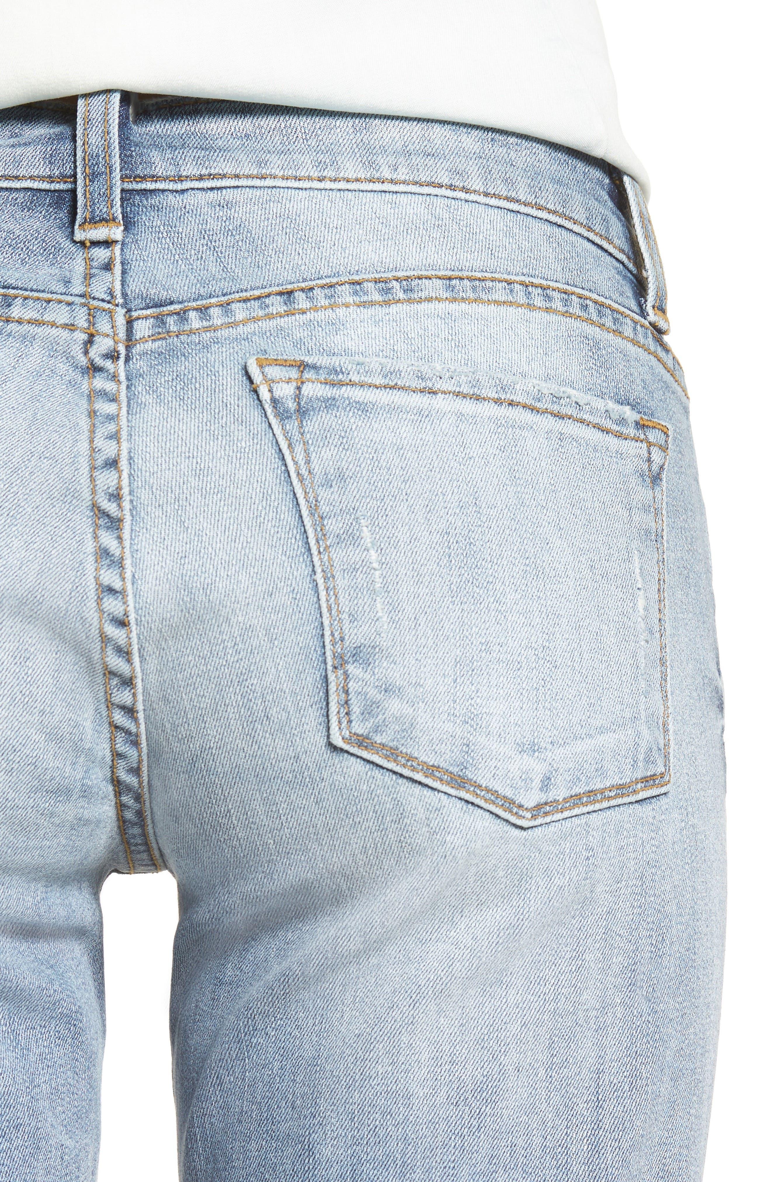 Catherine Distressed Boyfriend Jeans,                             Alternate thumbnail 4, color,                             421