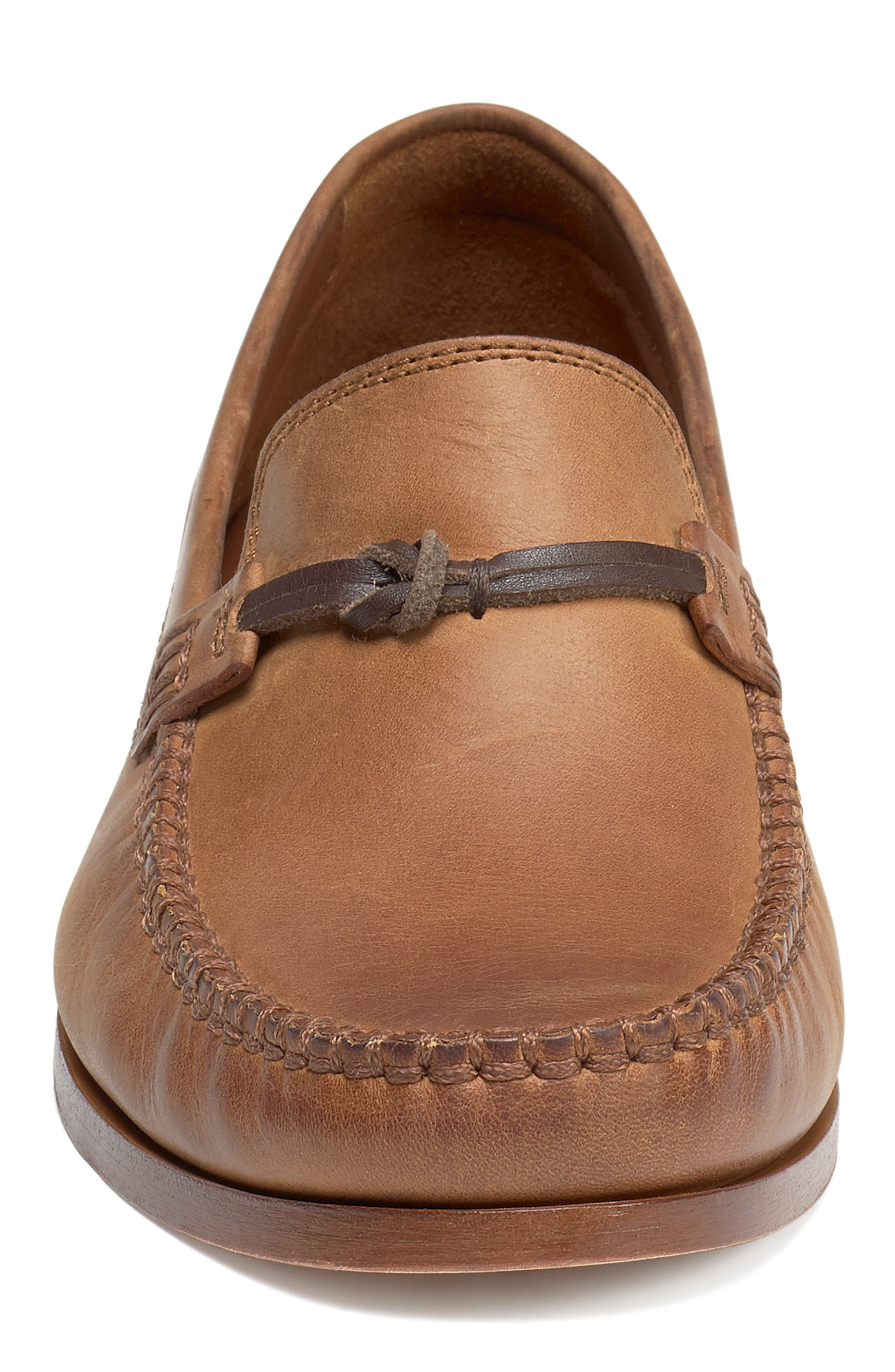 'Sawyer' Loafer,                             Alternate thumbnail 4, color,                             TAN LEATHER