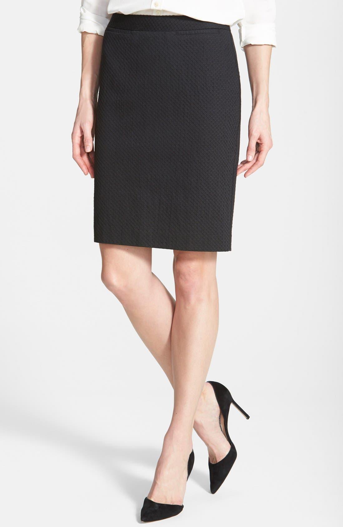Welt Pocket Pencil Skirt,                         Main,                         color, 002