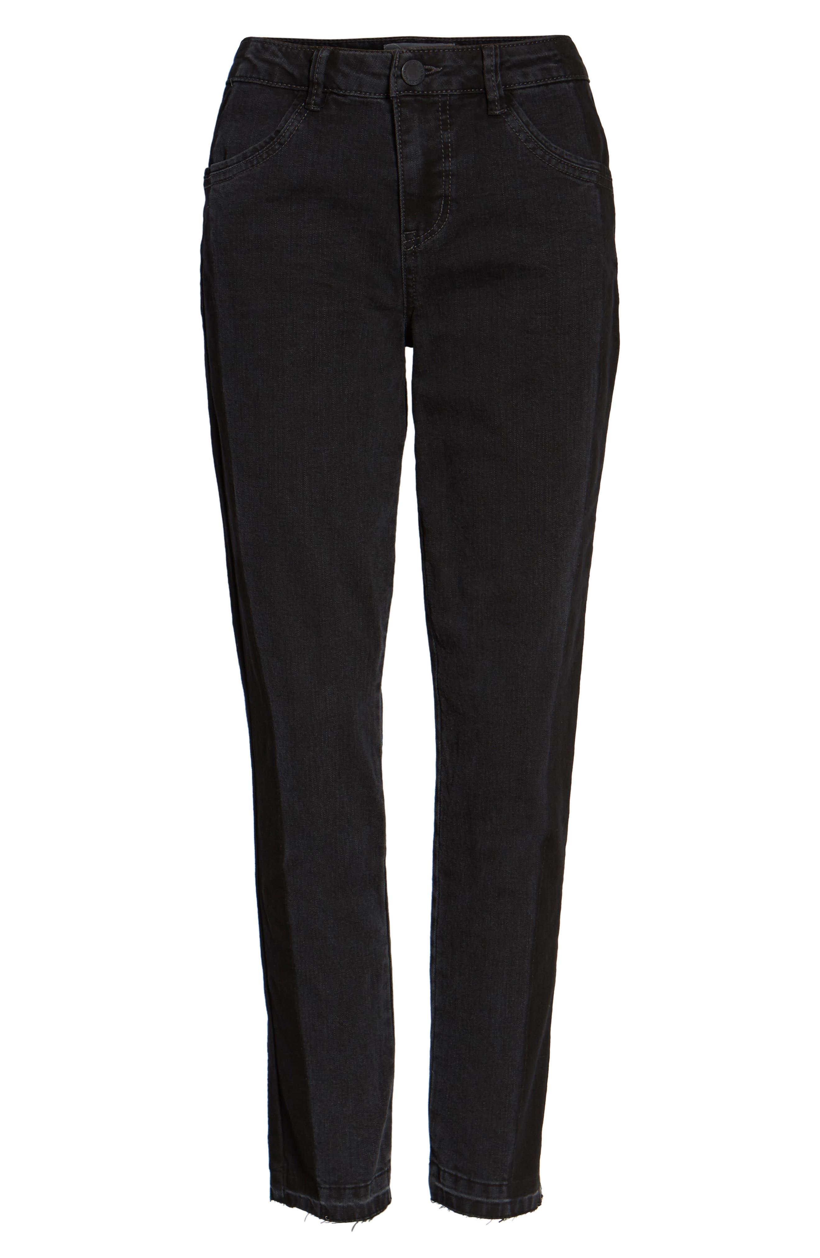 Tuxedo Stripe Skinny Jeans,                             Alternate thumbnail 6, color,                             020