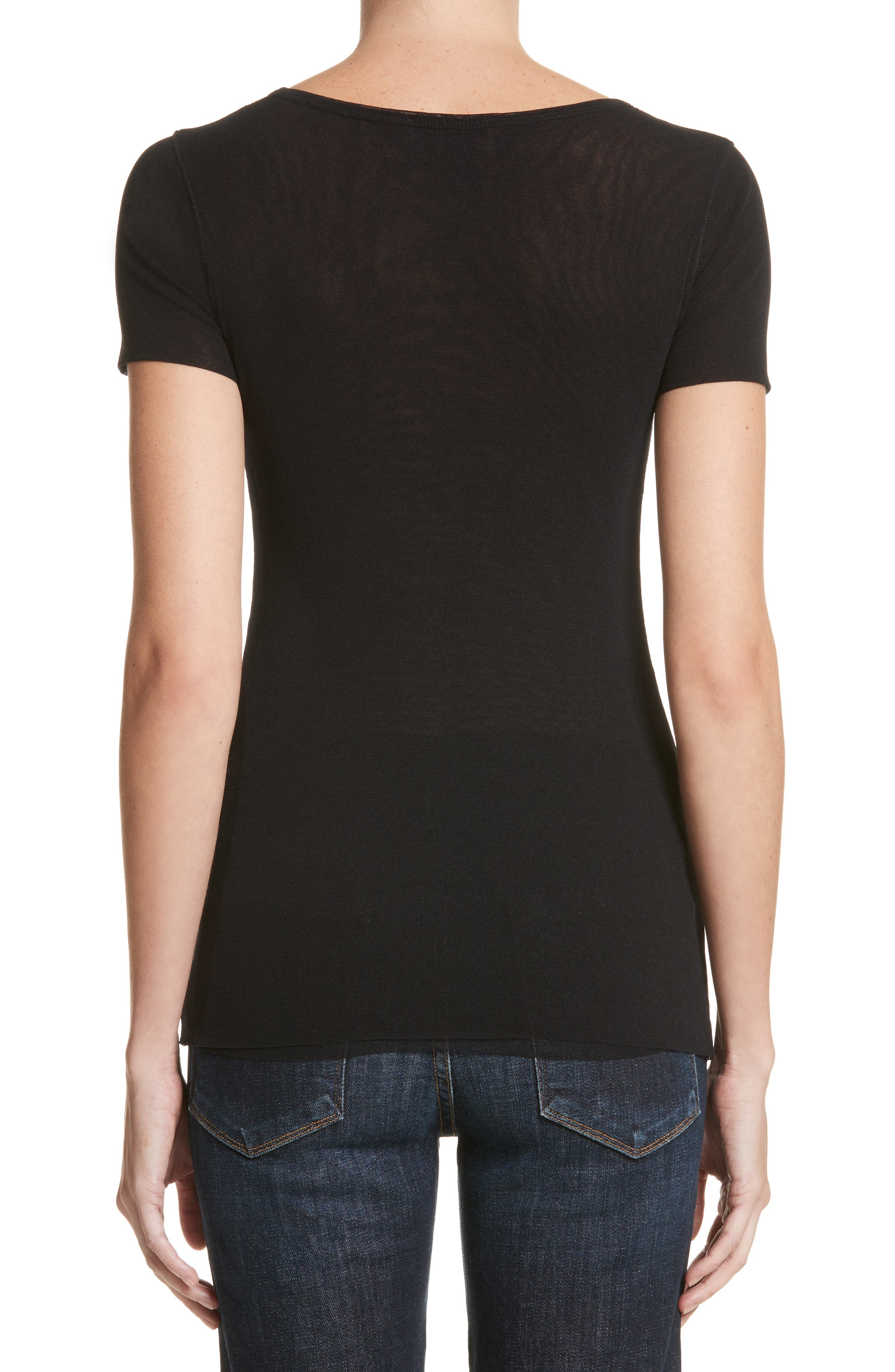 Double Layer Tulle Tee,                             Alternate thumbnail 2, color,