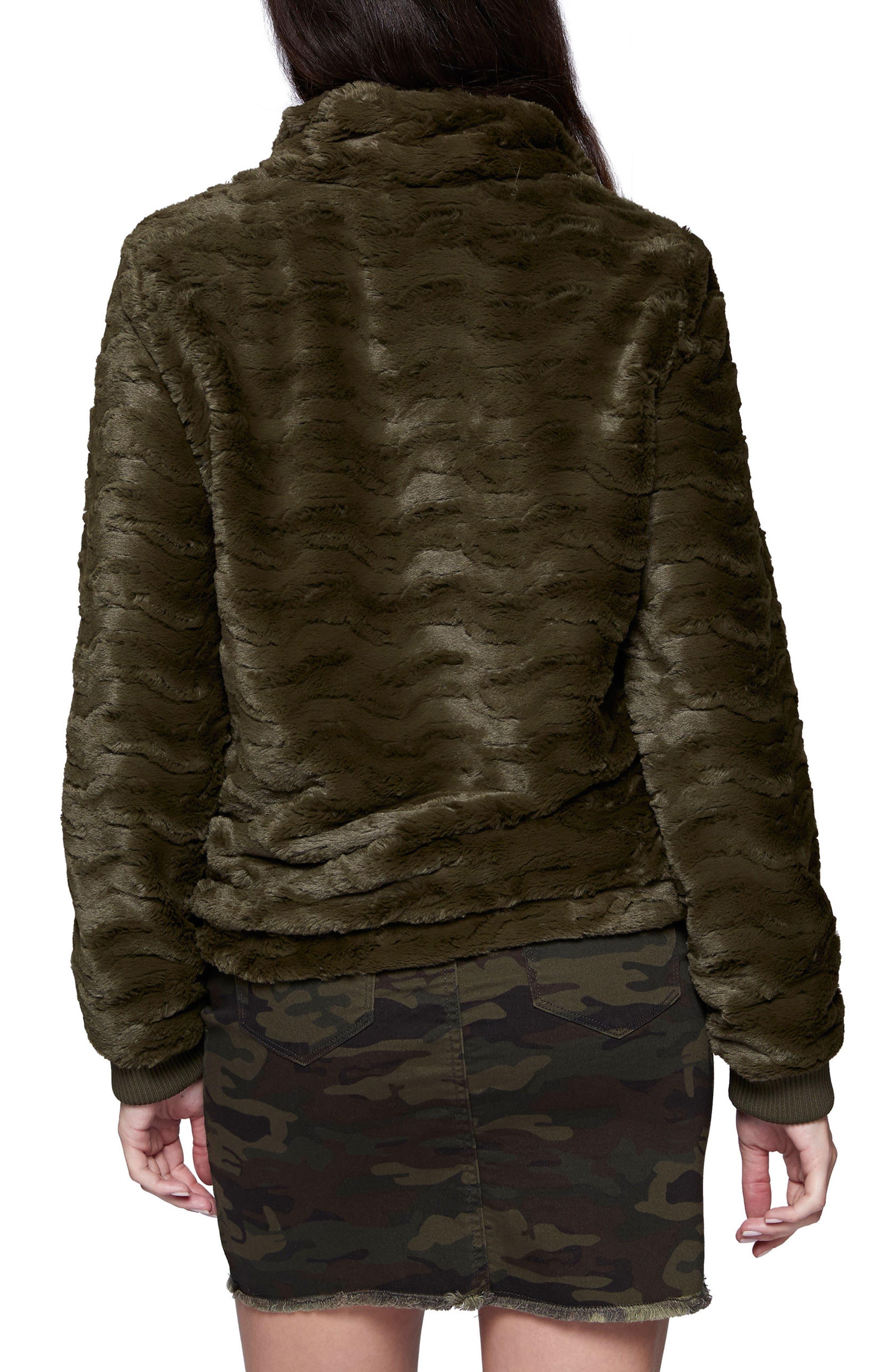 Faux Fur Bomber Jacket,                             Alternate thumbnail 2, color,                             301