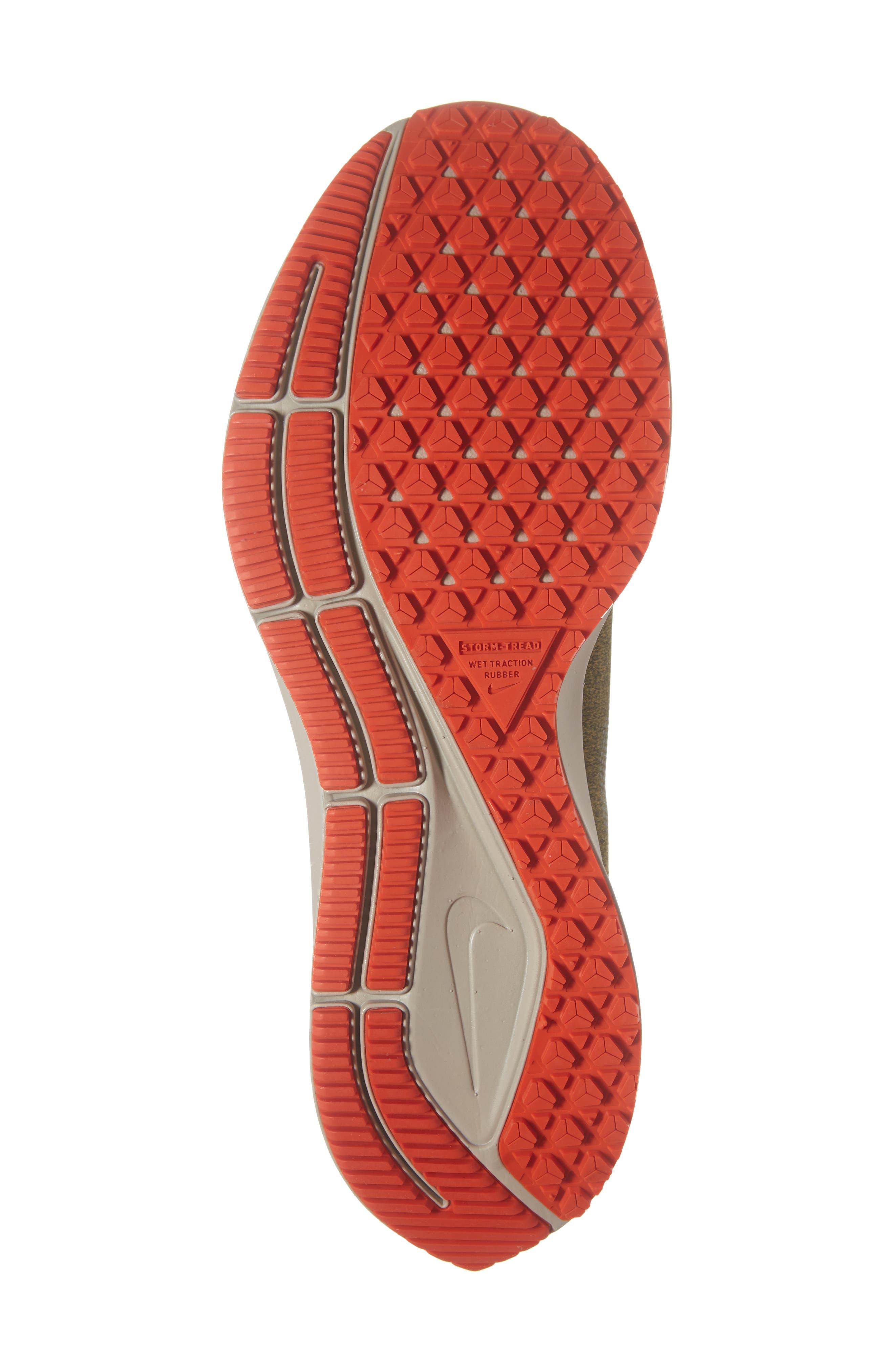 Air Zoom Pegasus 35 Shield Water Repellent Running Shoe,                             Alternate thumbnail 6, color,                             OLIVE/ METALLIC SILVER/ BLACK