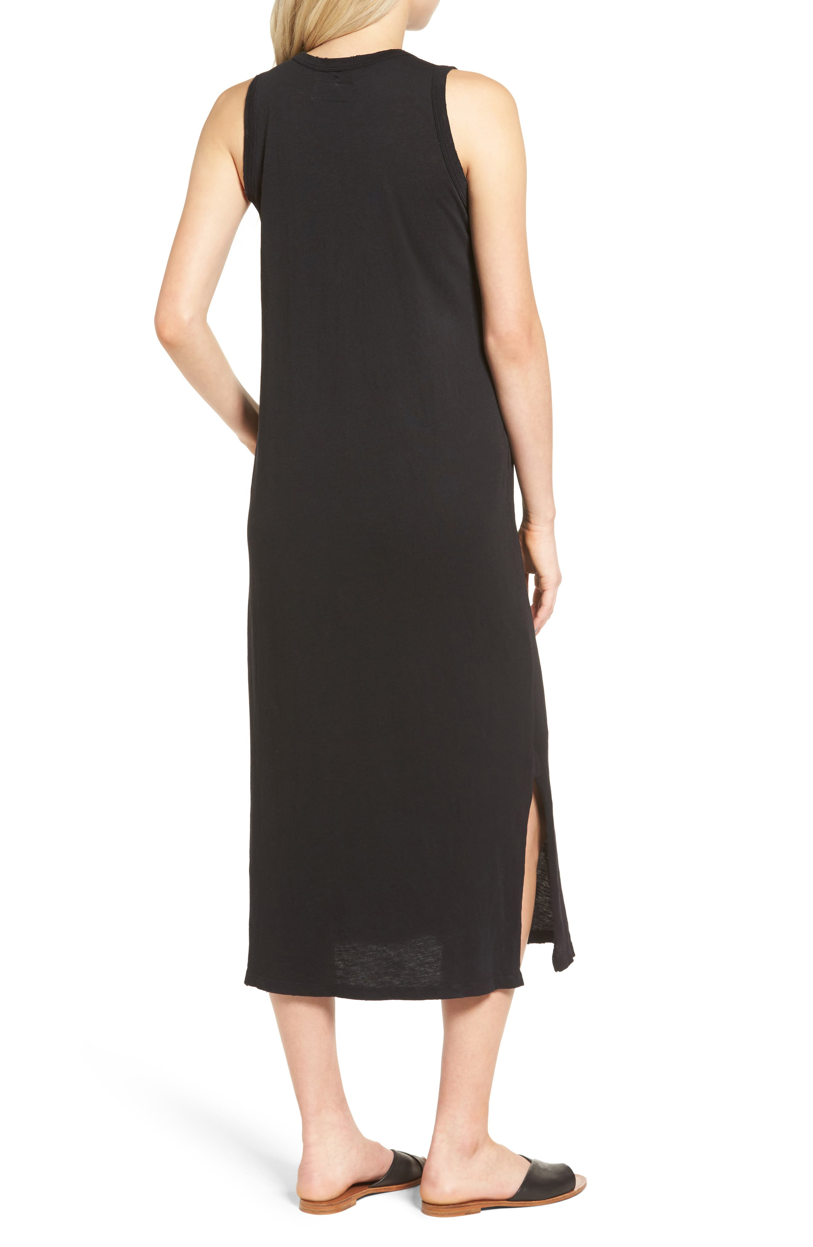 The Perfect Muscle Tee Dress,                             Alternate thumbnail 2, color,                             BLACK BEAUTY