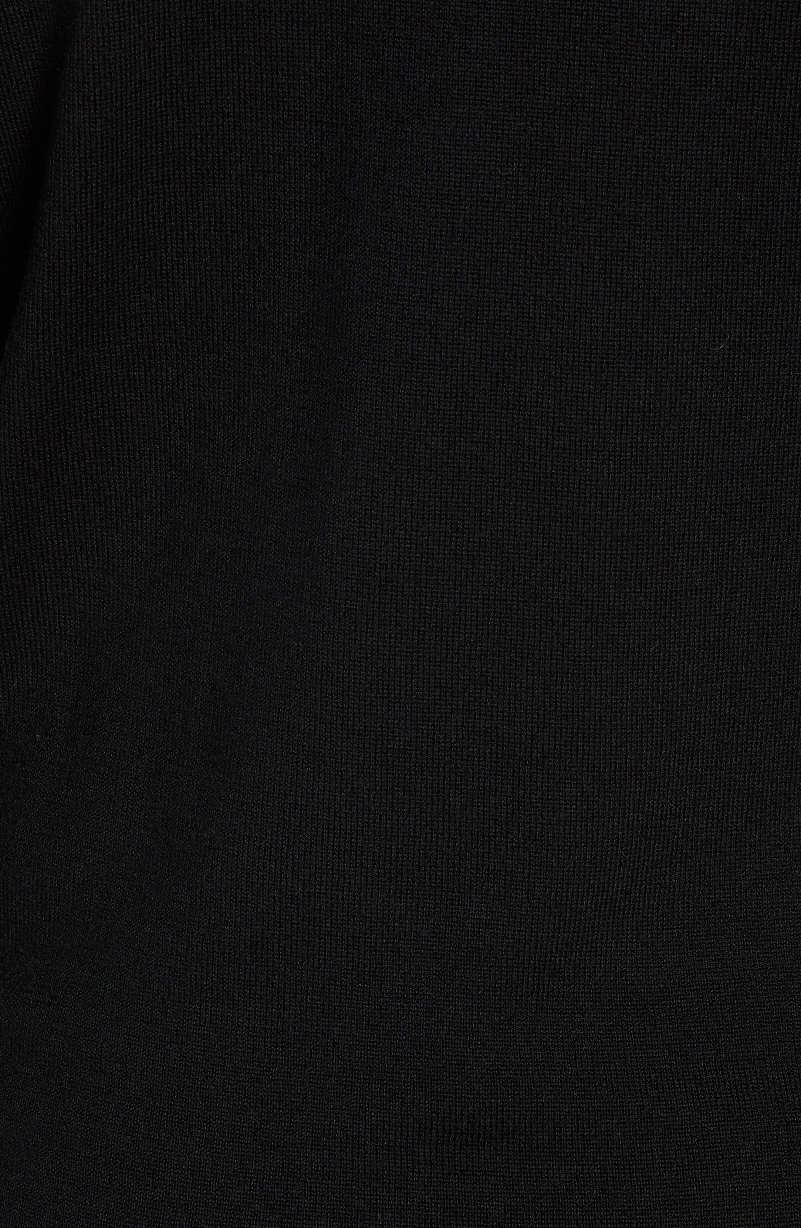 Shearer V-Neck Merino Sweater,                             Alternate thumbnail 5, color,                             BLACK