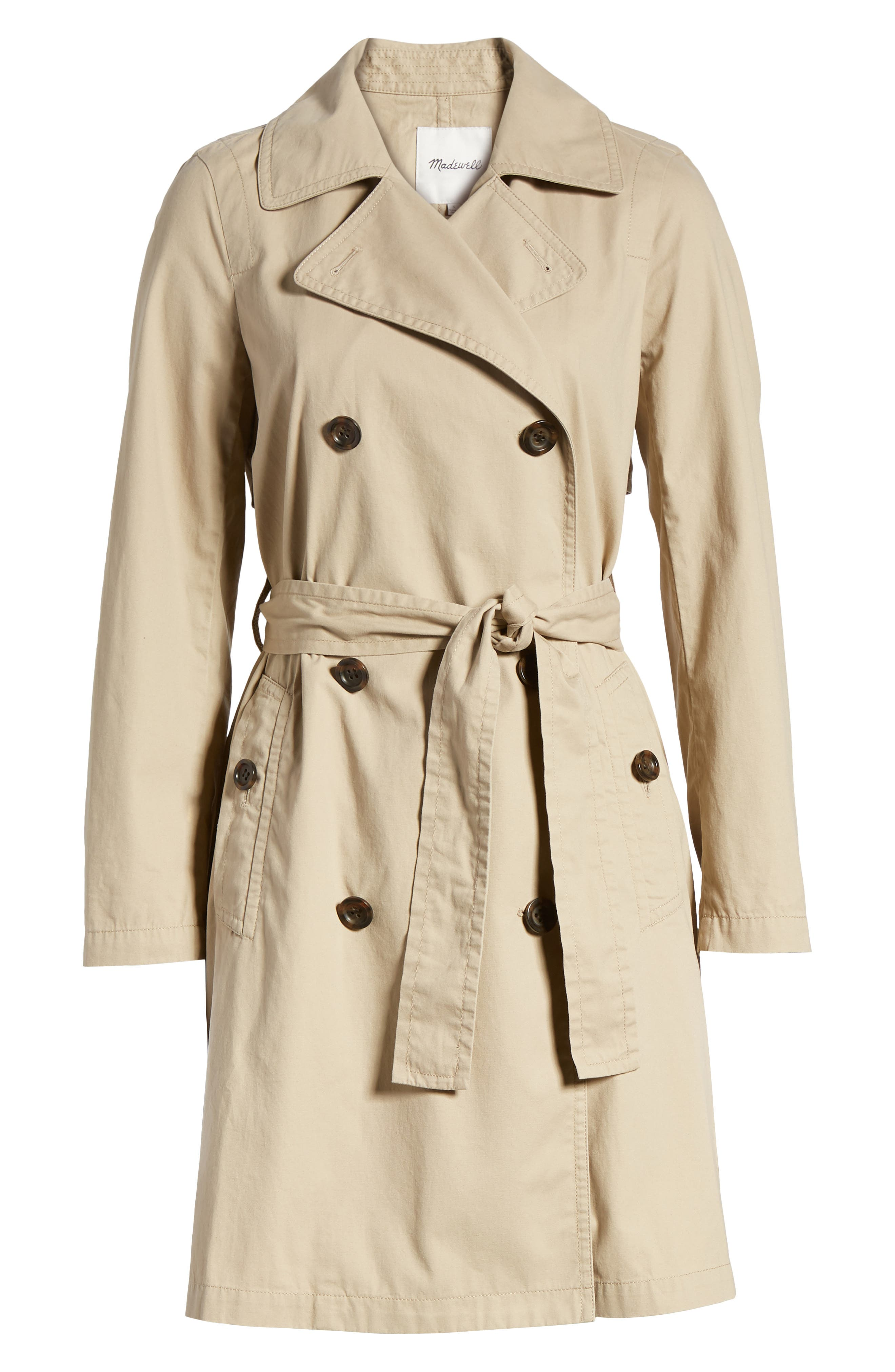 MADEWELL,                             Abroad Trench Coat,                             Alternate thumbnail 6, color,                             250