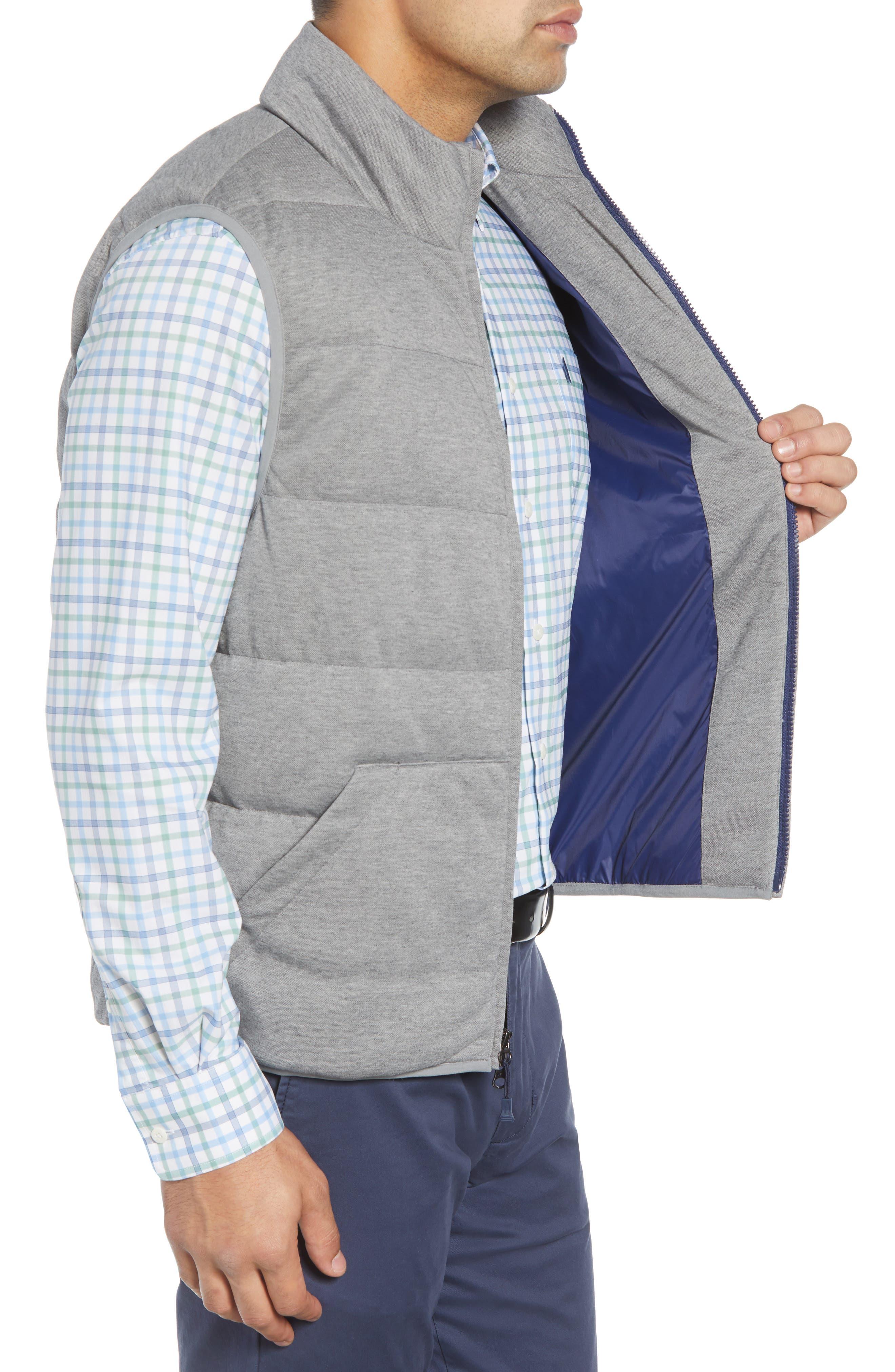 Lassiter Classic Fit Down Camper Vest,                             Alternate thumbnail 3, color,                             LIGHT GREY
