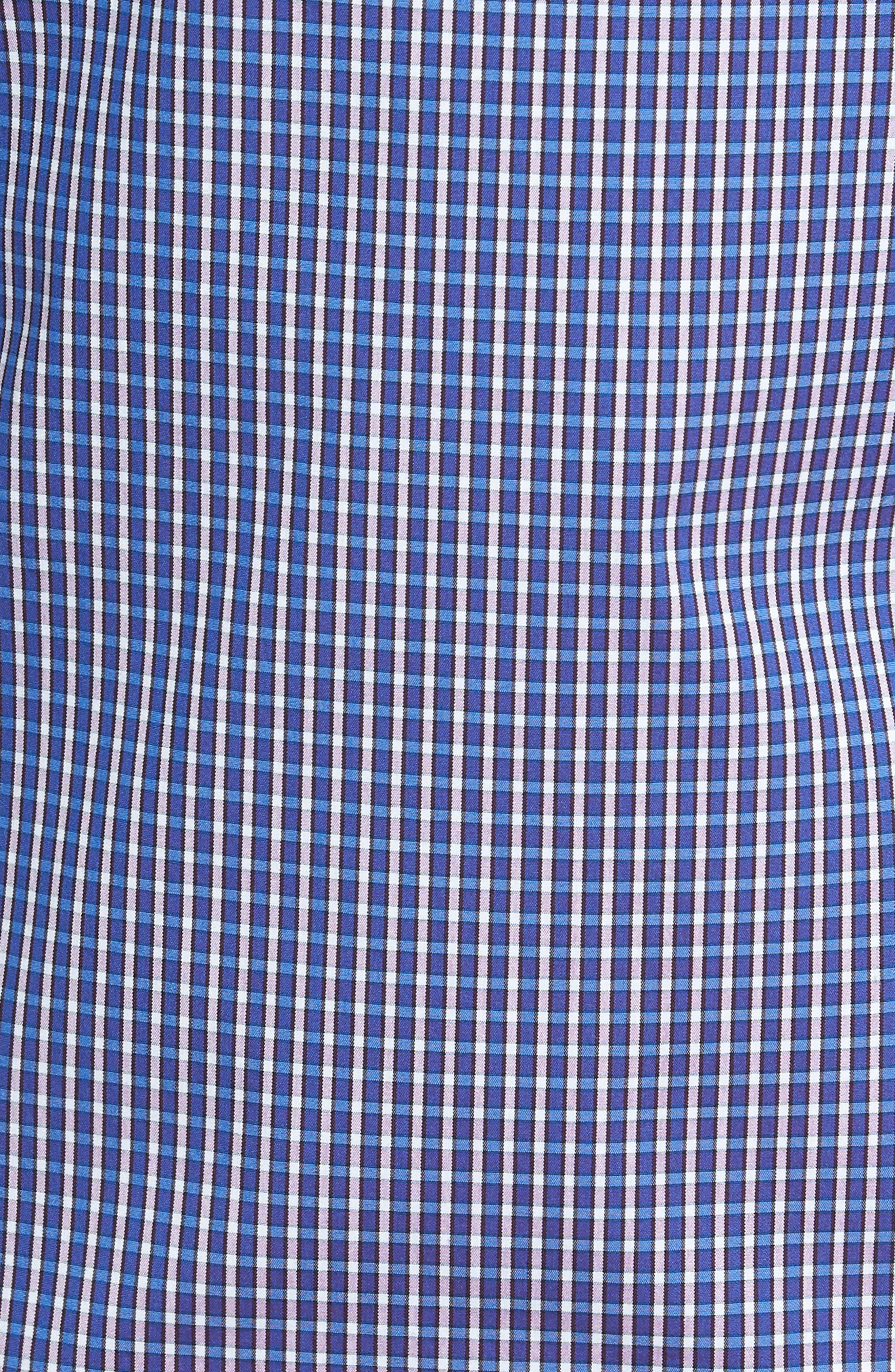 Tech-Smart Trim Fit Check Sport Shirt,                             Alternate thumbnail 5, color,                             501