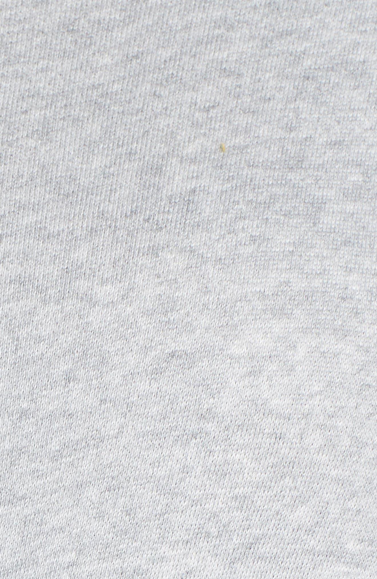 Twist Front Sweatshirt,                             Alternate thumbnail 5, color,                             GREY HEATHER