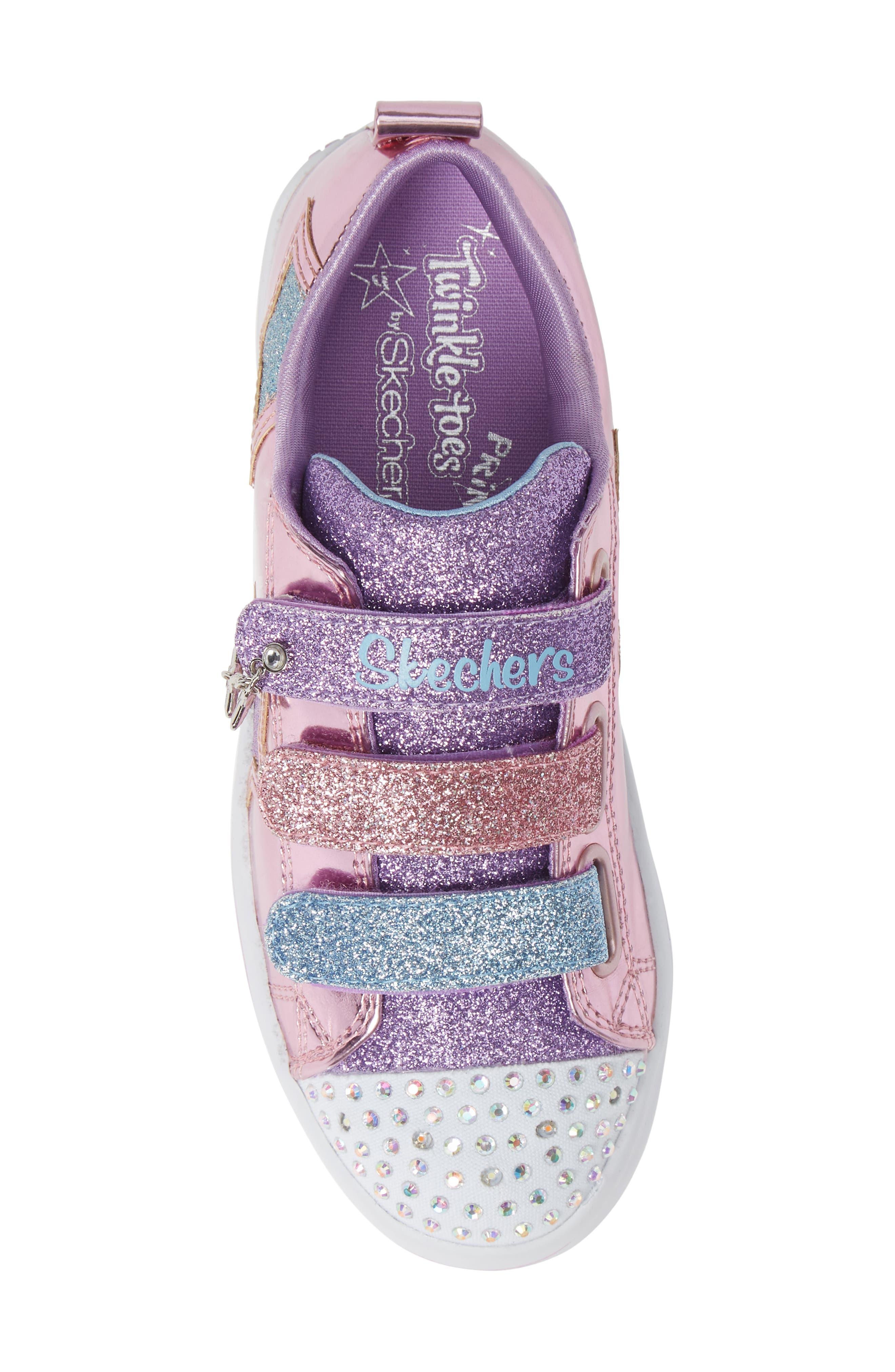Twi-Lites Star Light-Up Sneaker,                             Alternate thumbnail 5, color,                             PINK/ MULTI