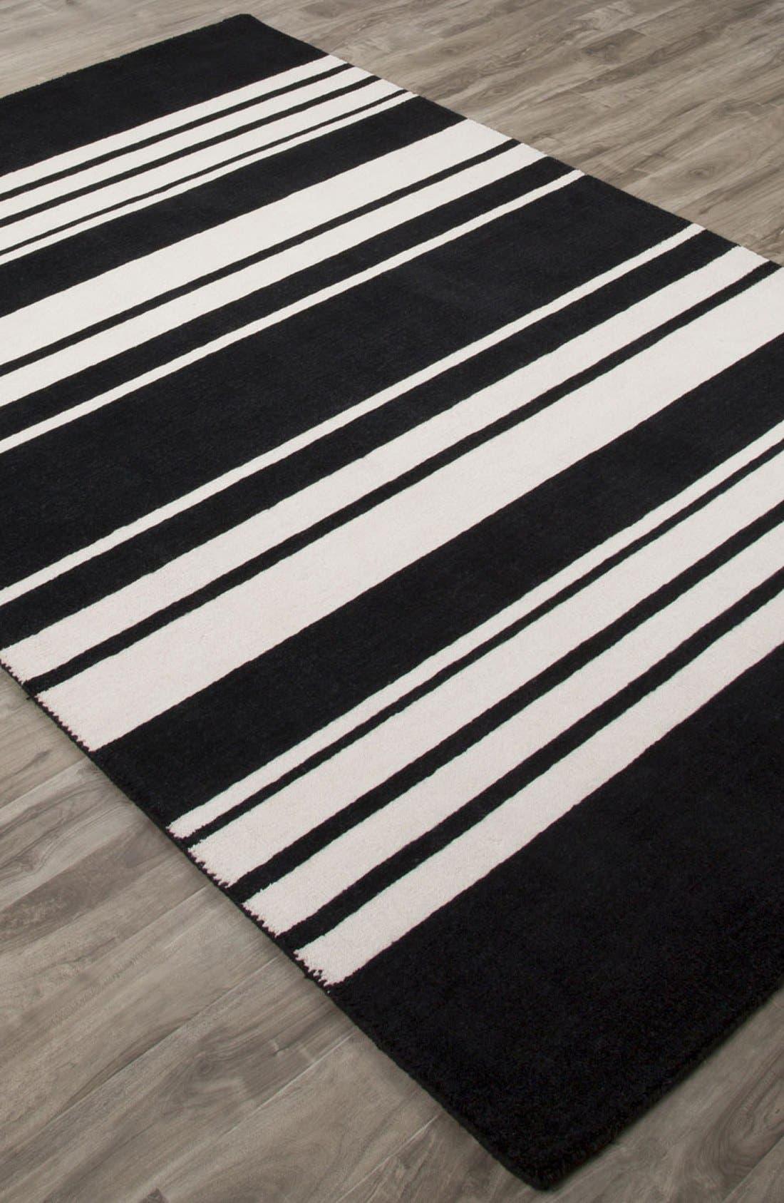 'astor stripe' wool rug,                             Alternate thumbnail 3, color,                             001