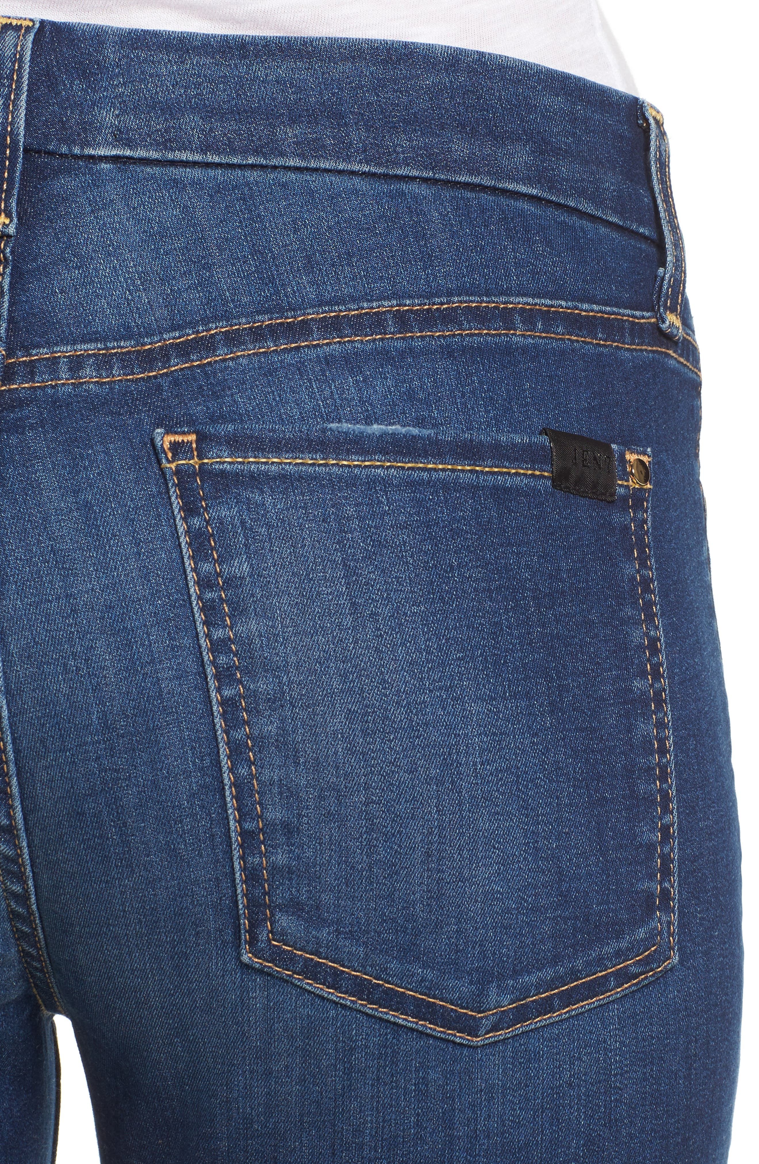 Release Hem Skinny Ankle Jeans,                             Alternate thumbnail 4, color,                             401