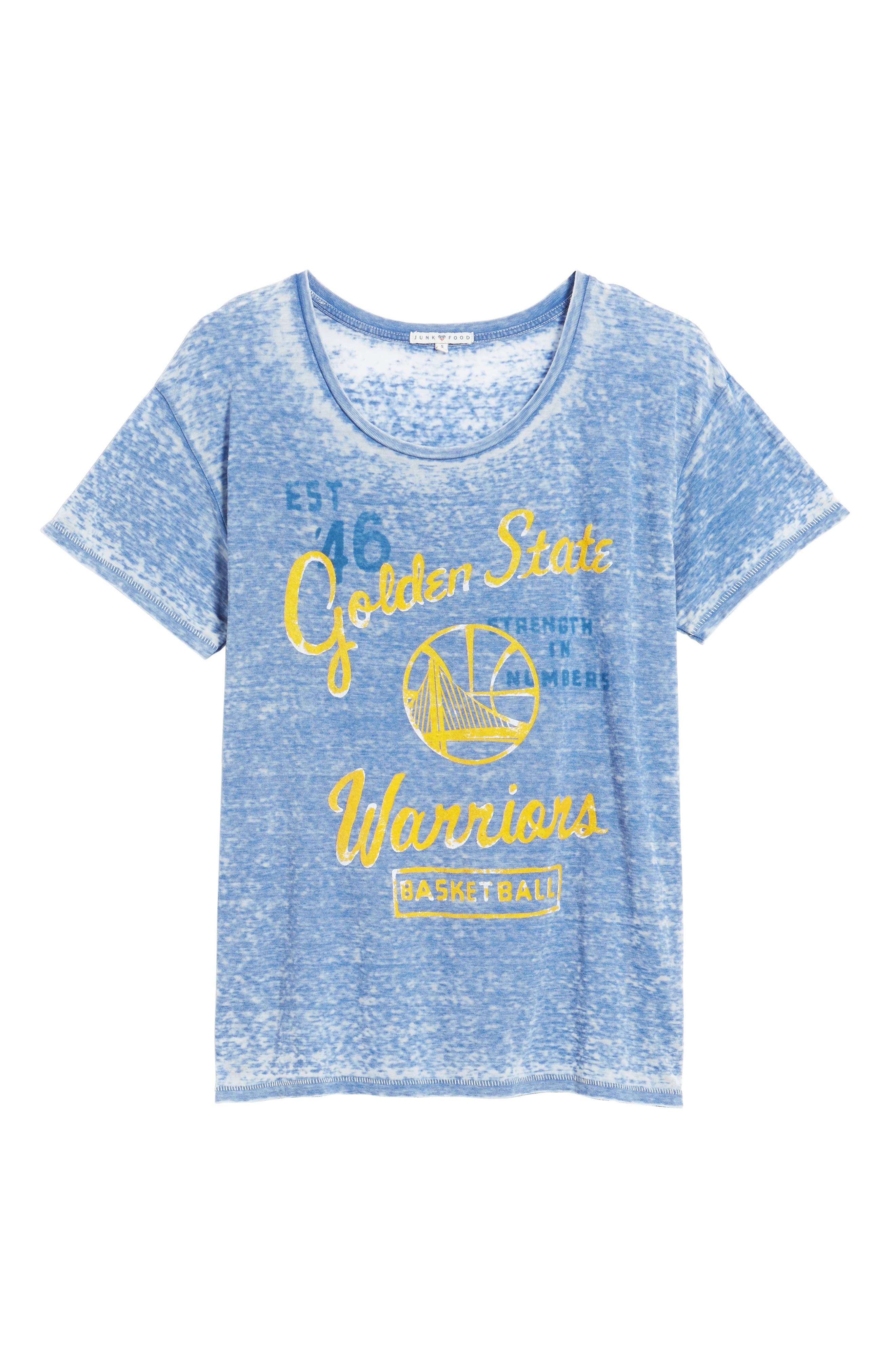 NBA Golden State Warriors Burnout Tee,                             Alternate thumbnail 6, color,