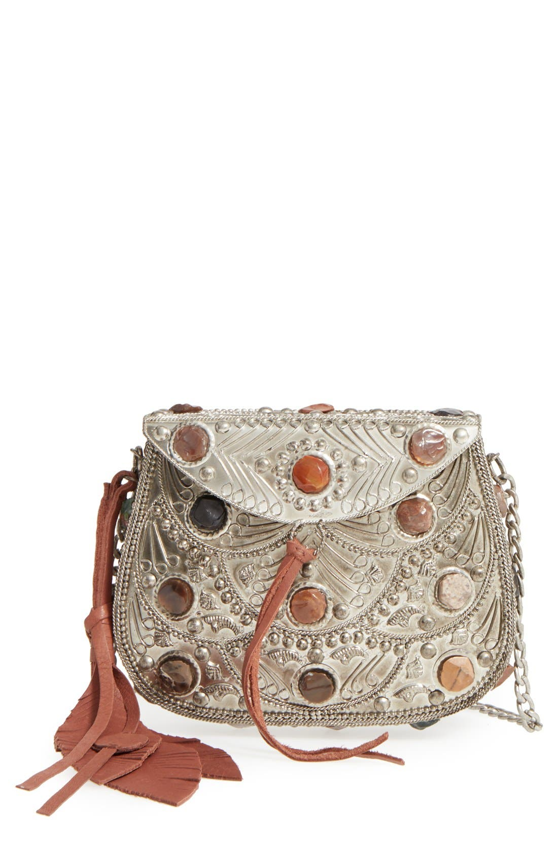 SAM EDELMAN Mini Thana Metal Crossbody Bag, Main, color, 044