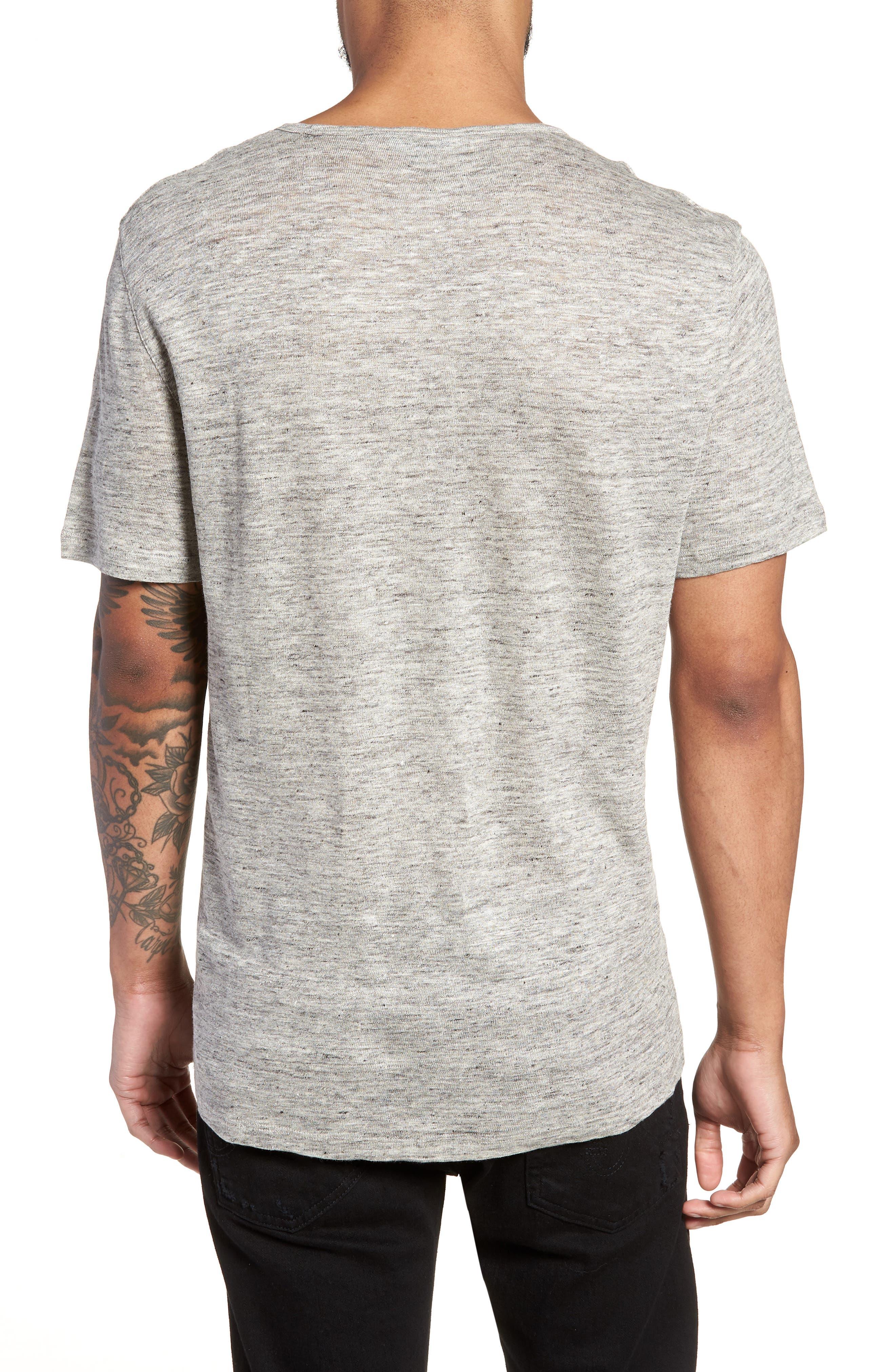 John Varvatos x Nick Jonas Linen T-Shirt,                             Alternate thumbnail 2, color,                             LIGHT GREY HEATHER