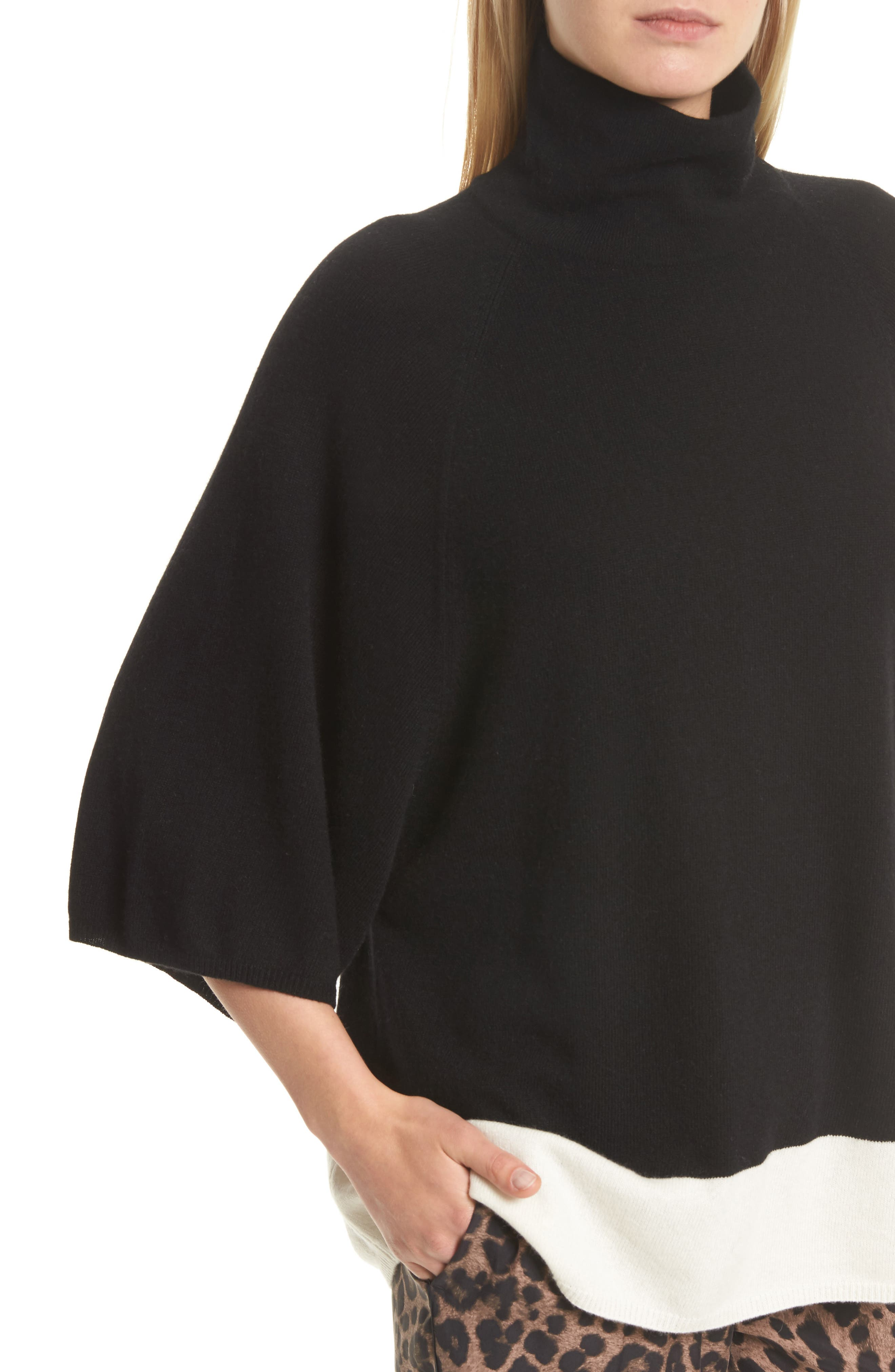 Celia G Wool & Cashmere Sweater,                             Alternate thumbnail 4, color,                             004