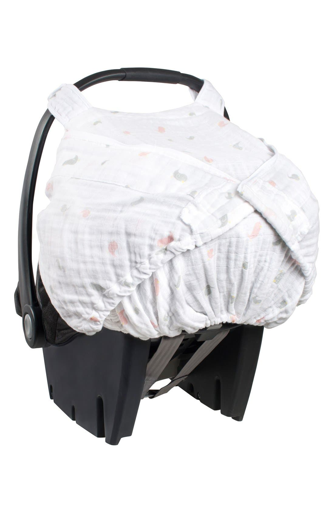 Muslin Car Seat Cover,                             Alternate thumbnail 2, color,                             101