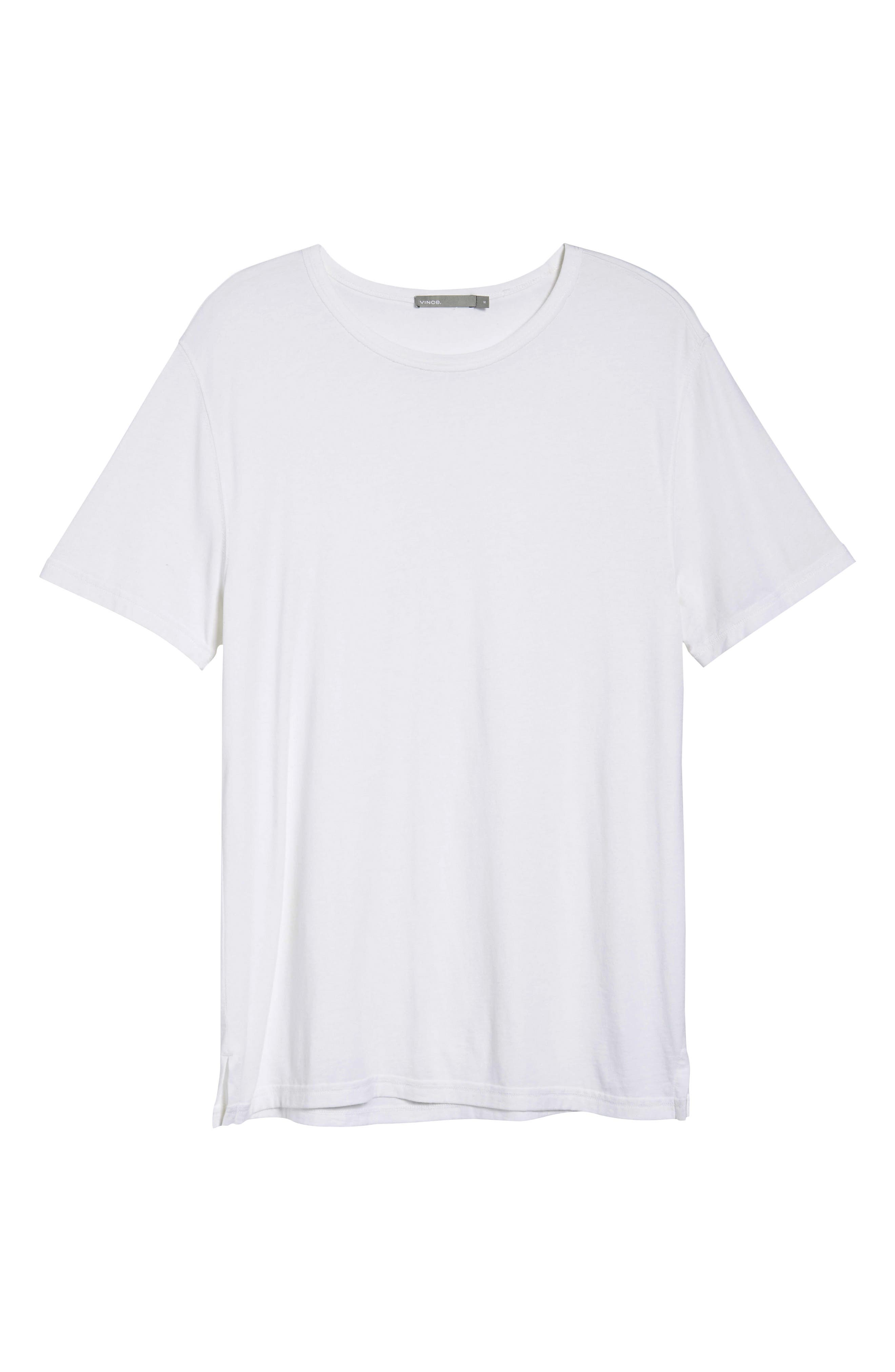 VINCE,                             Reverse Hem Slim Fit T-Shirt,                             Alternate thumbnail 6, color,                             100