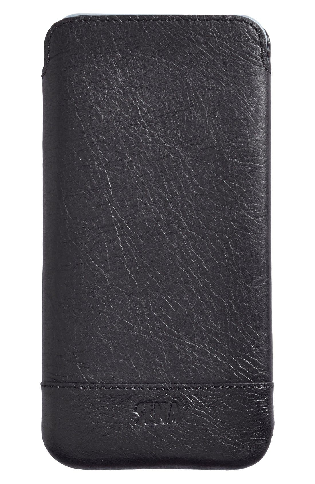 Heritage - Ultra Slim Leather iPhone 6 Plus/6s Plus Pouch,                             Main thumbnail 2, color,