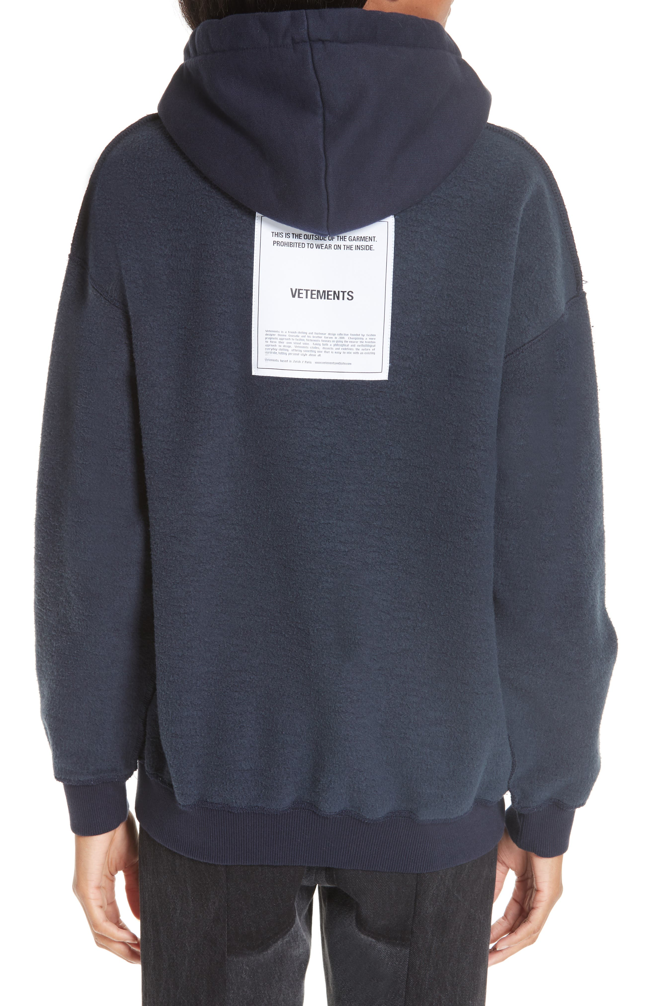 Inside-Out Hoodie,                             Alternate thumbnail 2, color,                             NAVY