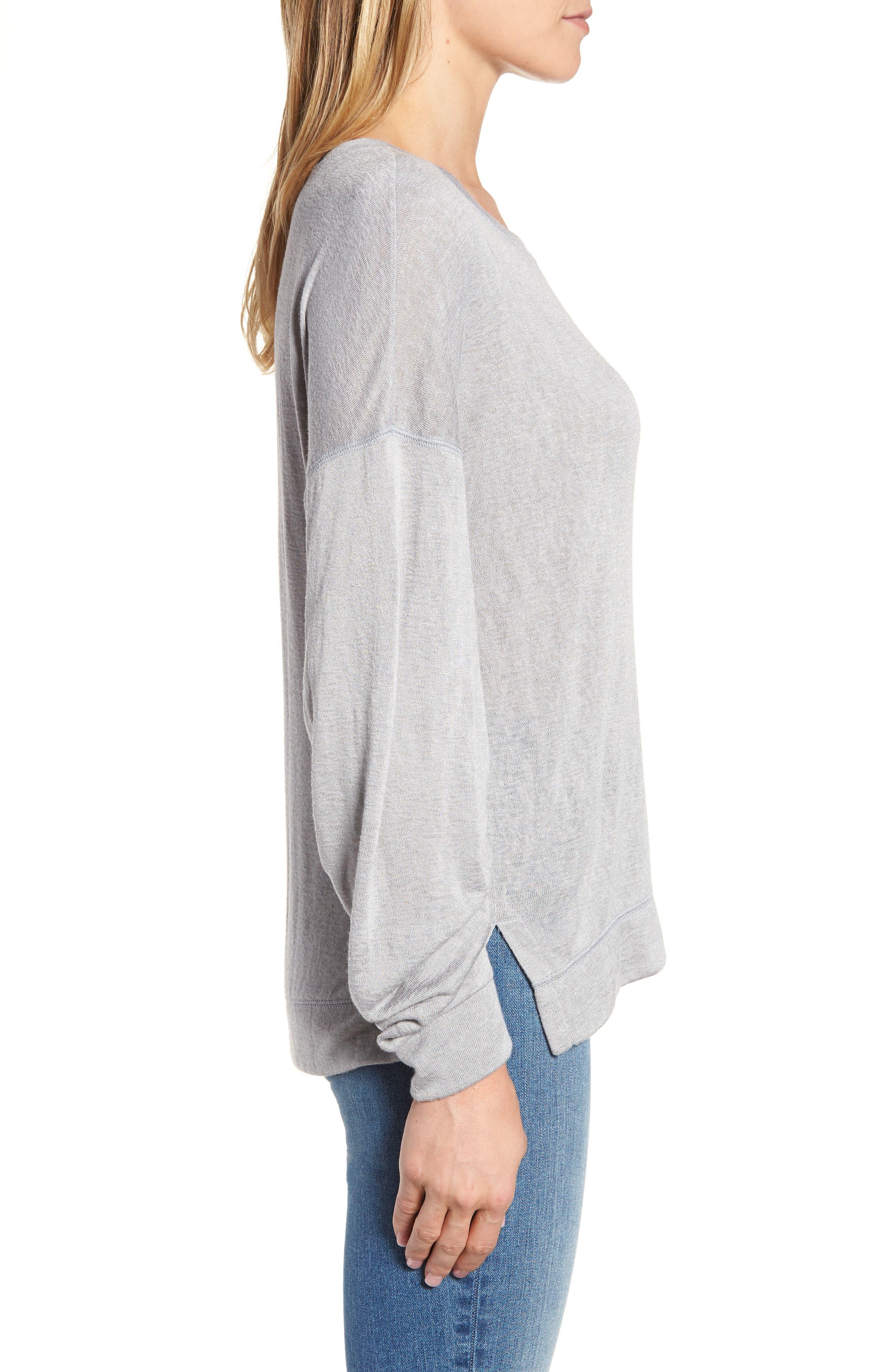 Tuck Sleeve Sweatshirt,                             Alternate thumbnail 15, color,