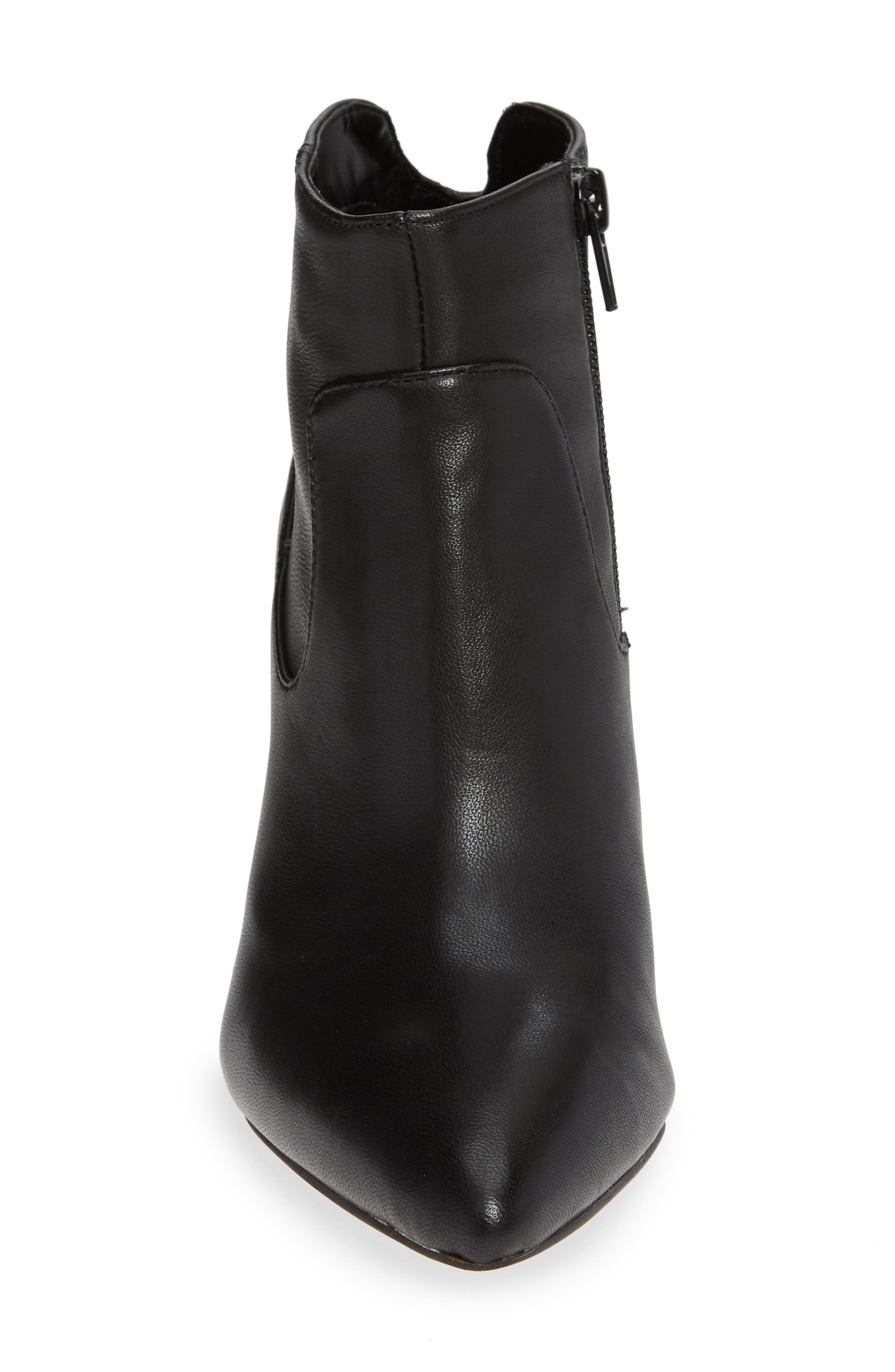 Raphaela Bootie,                             Alternate thumbnail 4, color,                             BLACK LEATHER