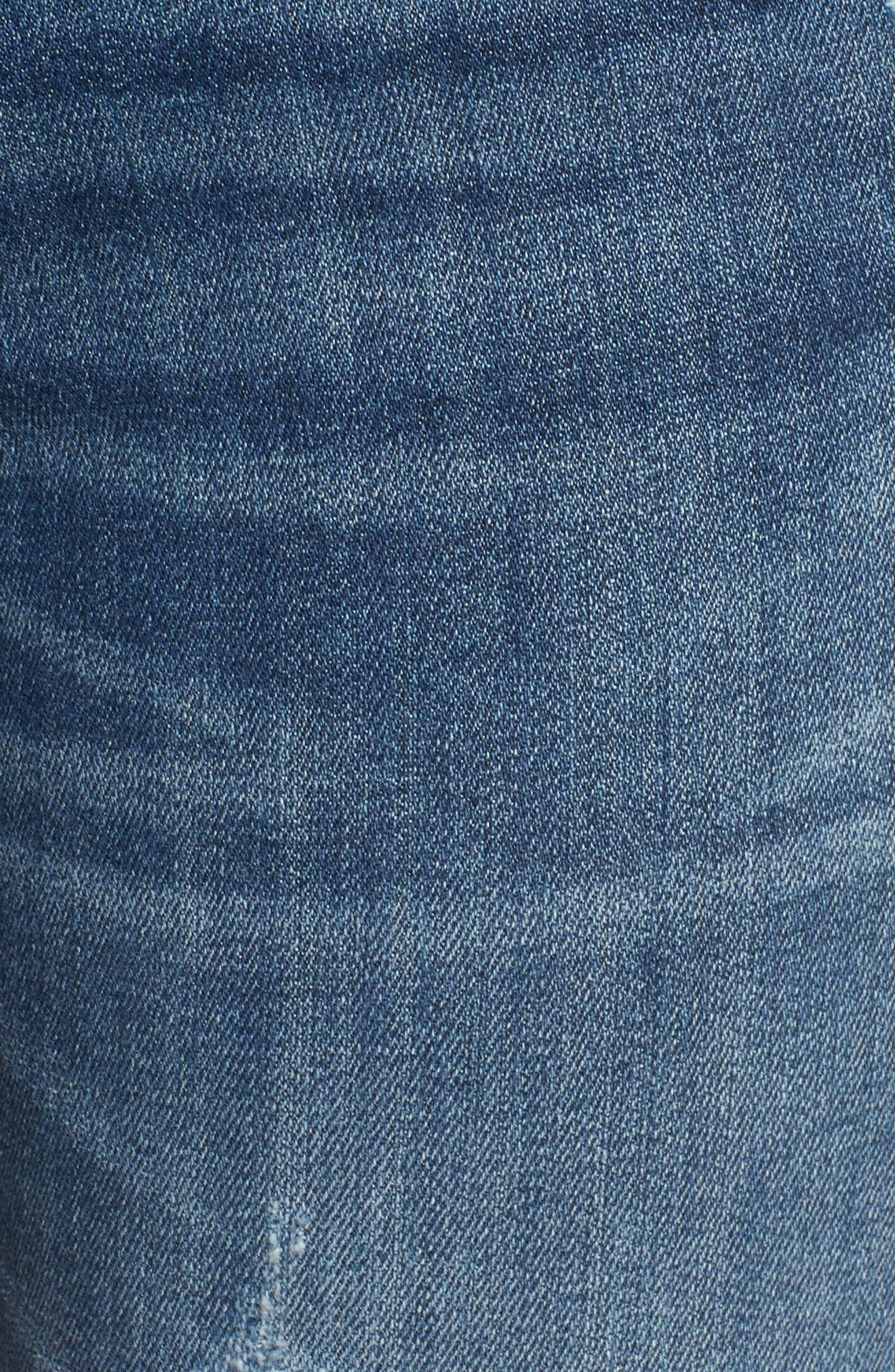 Jagger Ripped Skinny Jeans,                             Alternate thumbnail 6, color,                             MED WASH