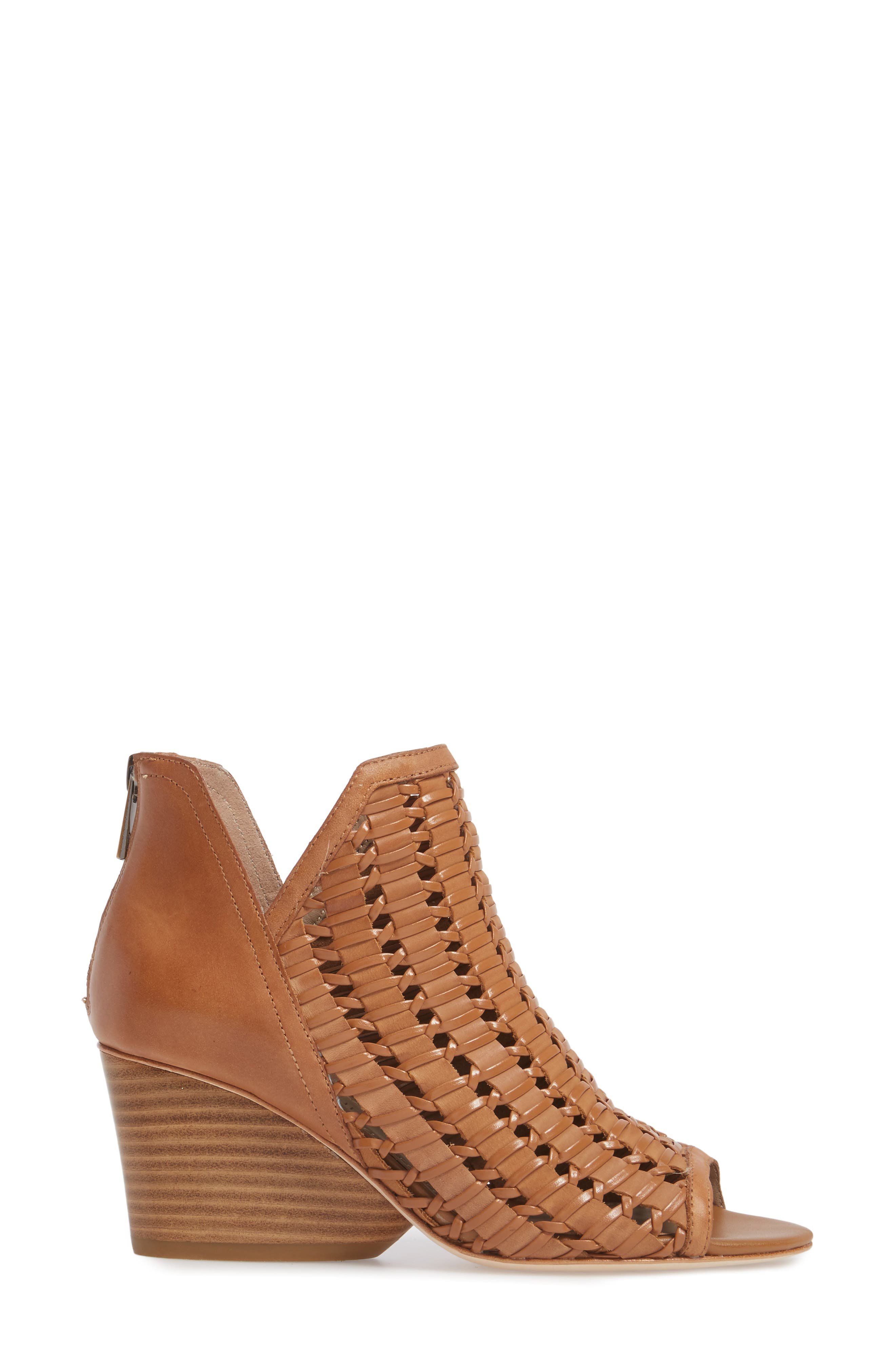 Jacqi Woven Open Toe Bootie,                             Alternate thumbnail 6, color,