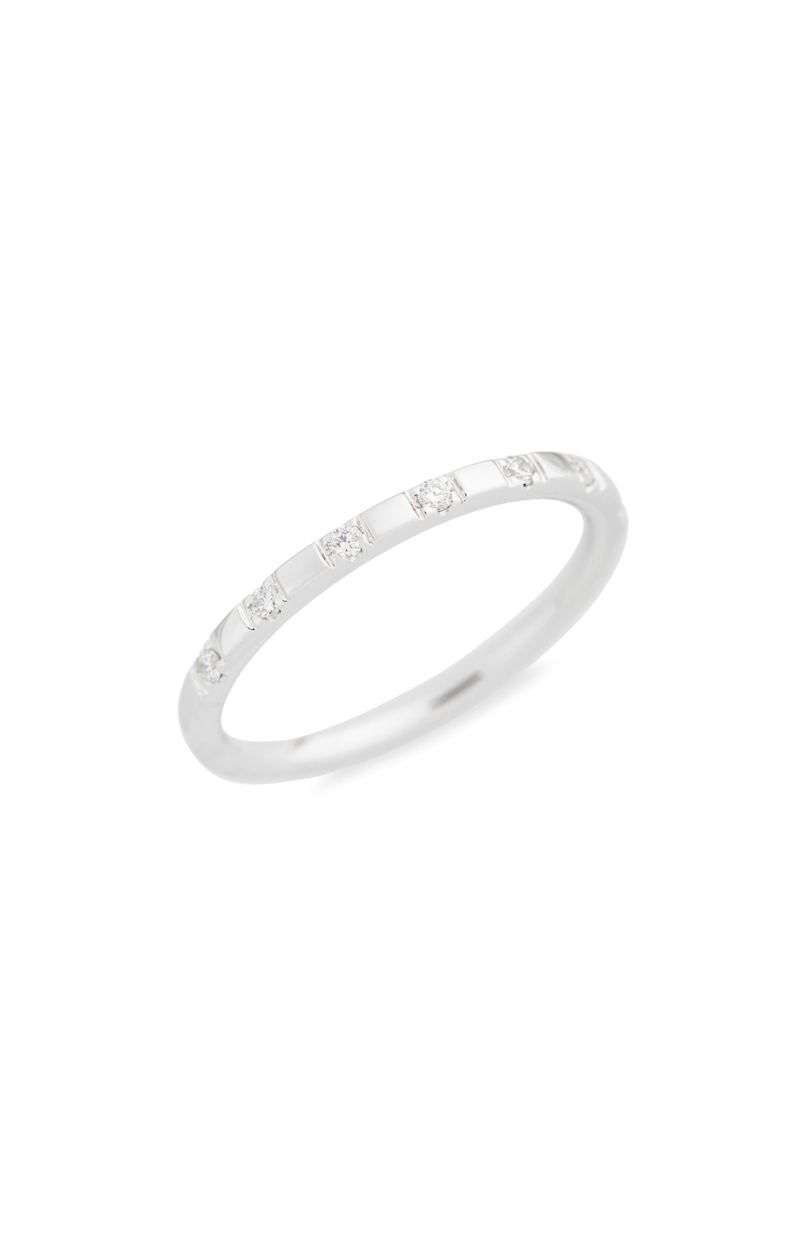 Prism Large Stackable Diamond Ring,                             Main thumbnail 1, color,                             WHITE GOLD
