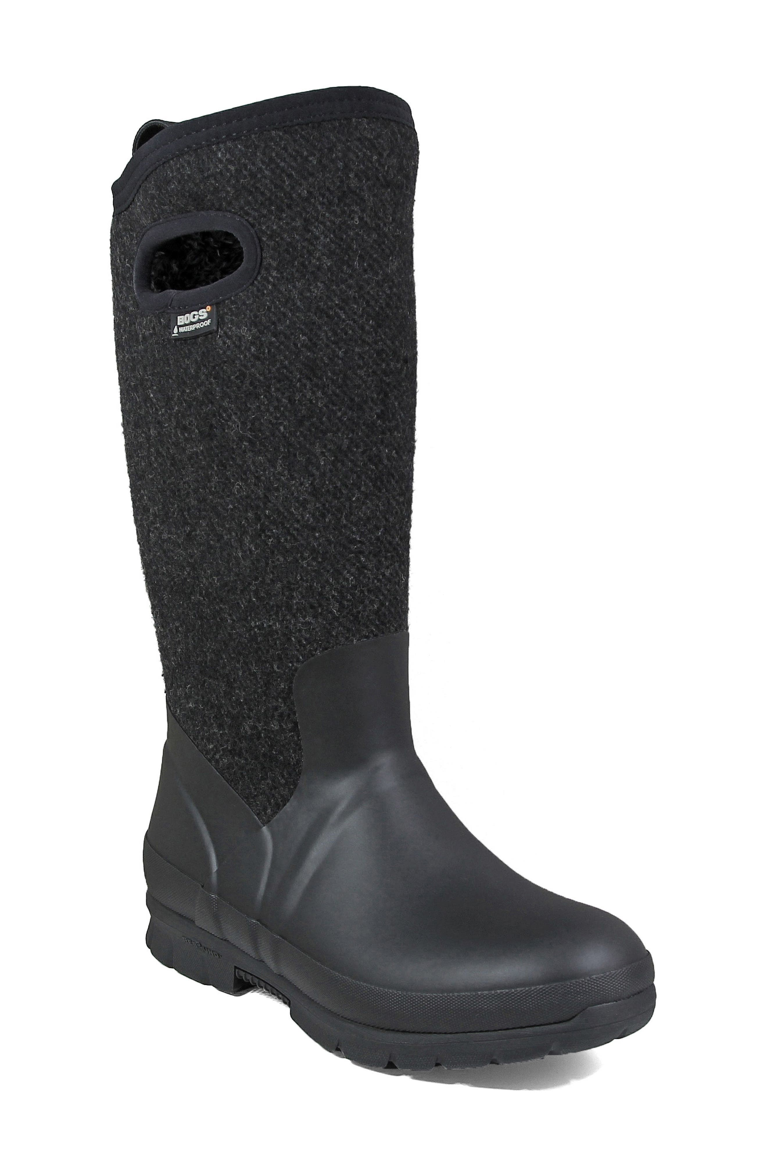 Crandall Waterproof Tall Boot,                             Main thumbnail 1, color,                             001