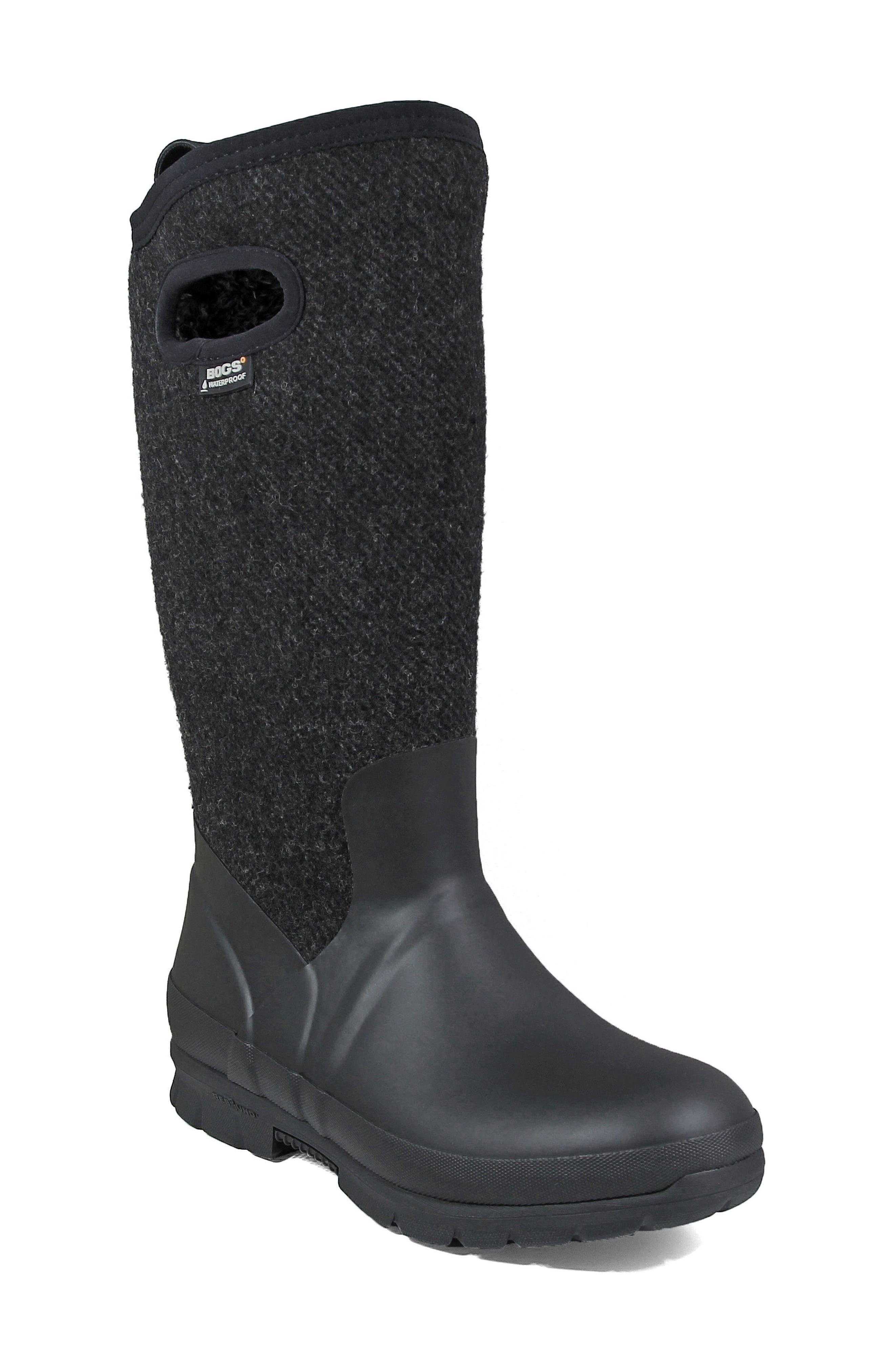 Crandall Waterproof Tall Boot,                         Main,                         color, 001