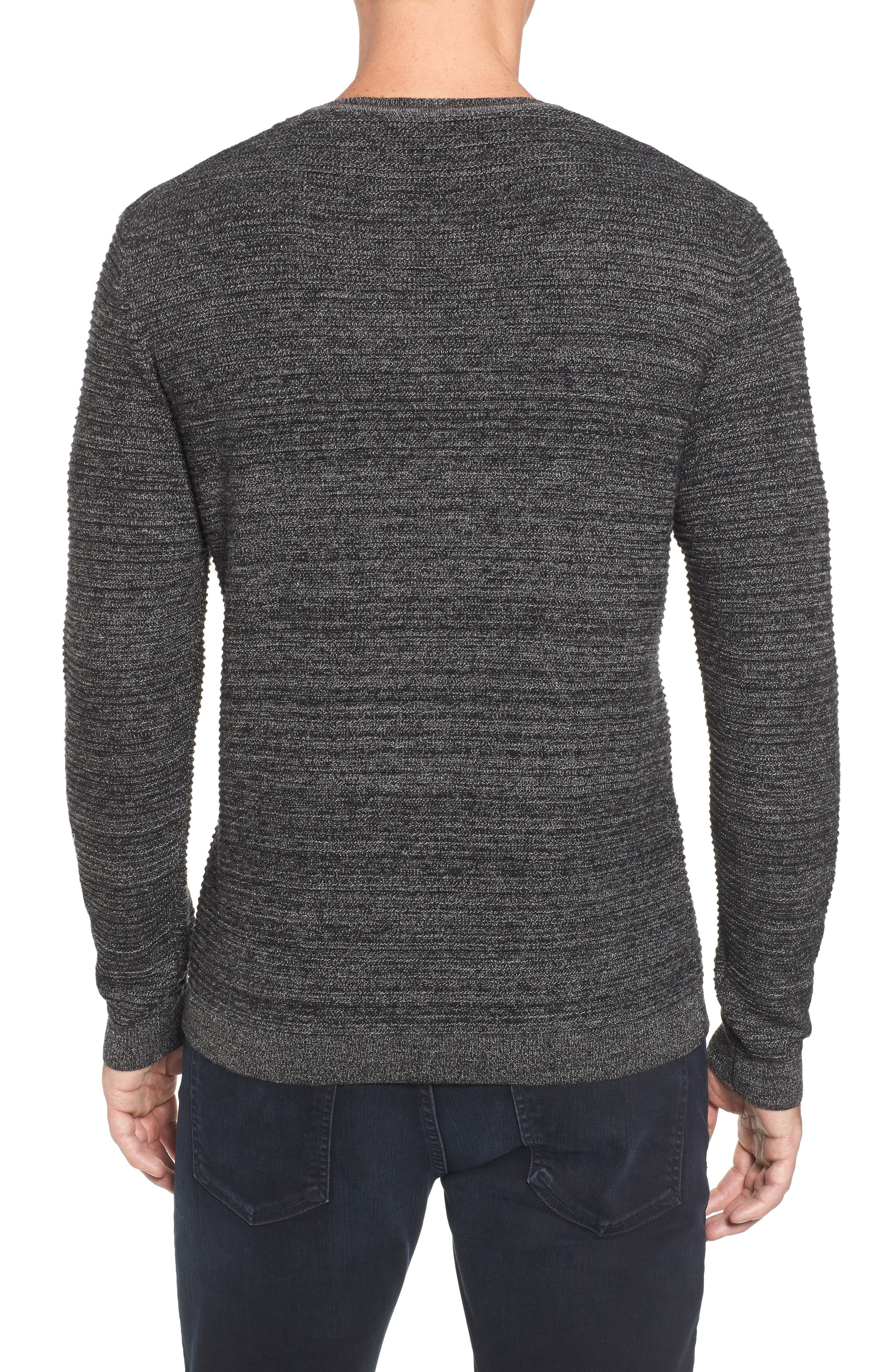 Ottoman Wool Blend Sweater,                             Alternate thumbnail 2, color,                             001