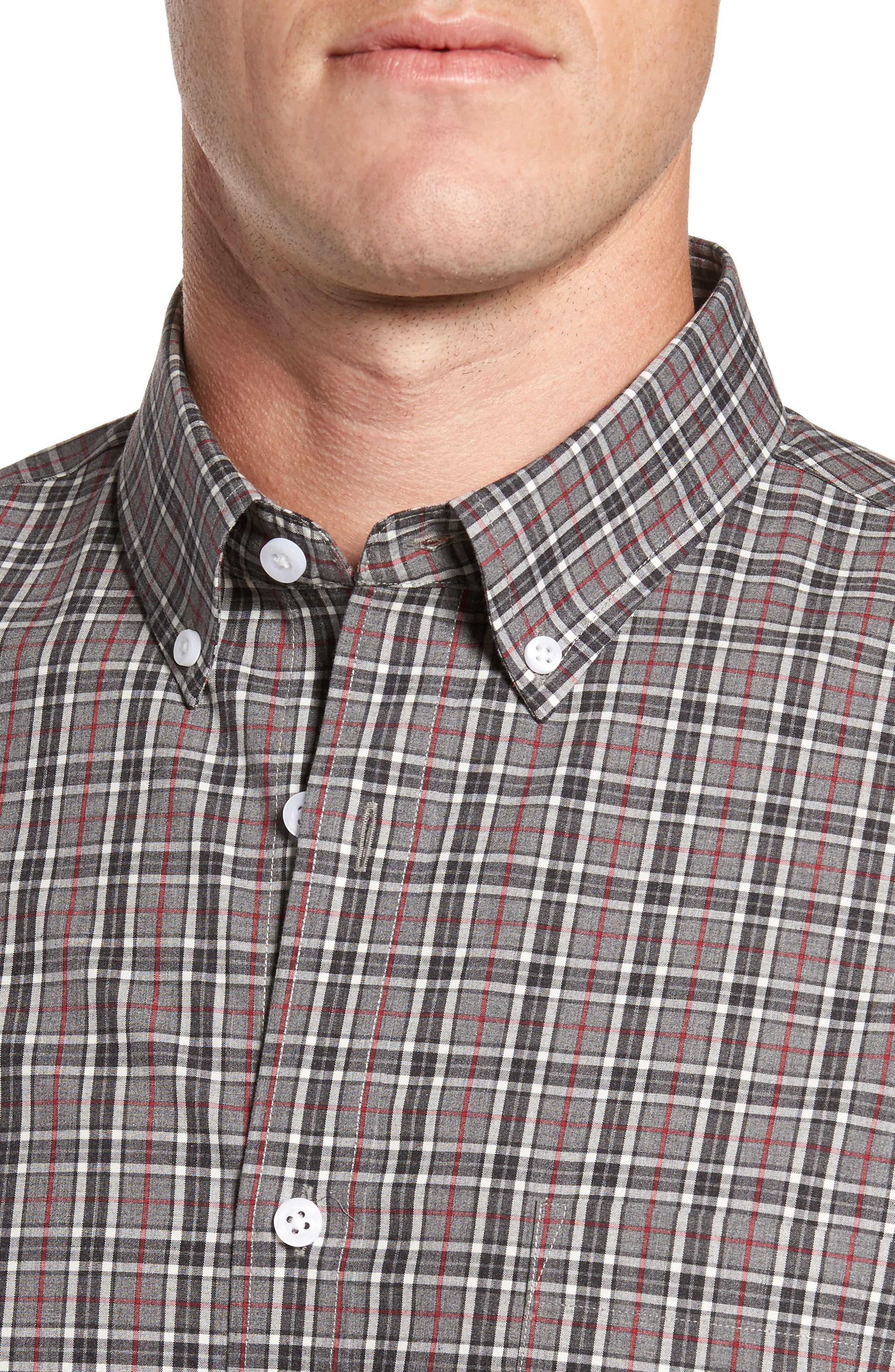 Smartcare<sup>™</sup> Regular Fit Plaid Sport Shirt,                             Alternate thumbnail 4, color,                             030