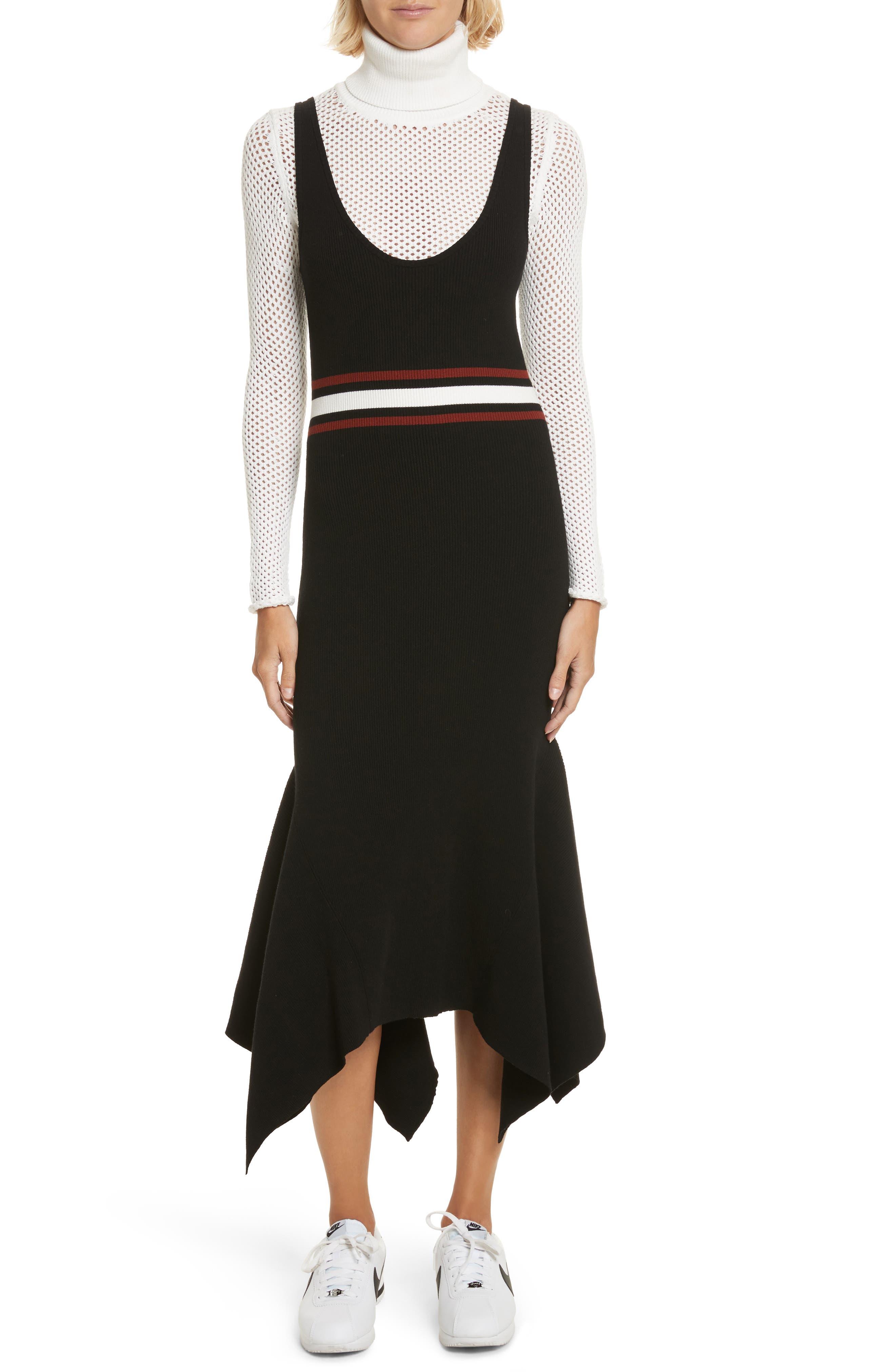 Anders Rib Knit Dress,                             Main thumbnail 1, color,                             002