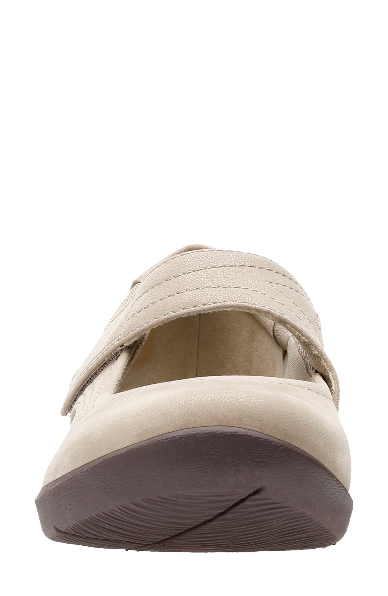 CLARKS<SUP>®</SUP>,                             Sillian Bella Mary Jane Flat,                             Alternate thumbnail 3, color,                             SAND SYNTHETIC NUBUCK