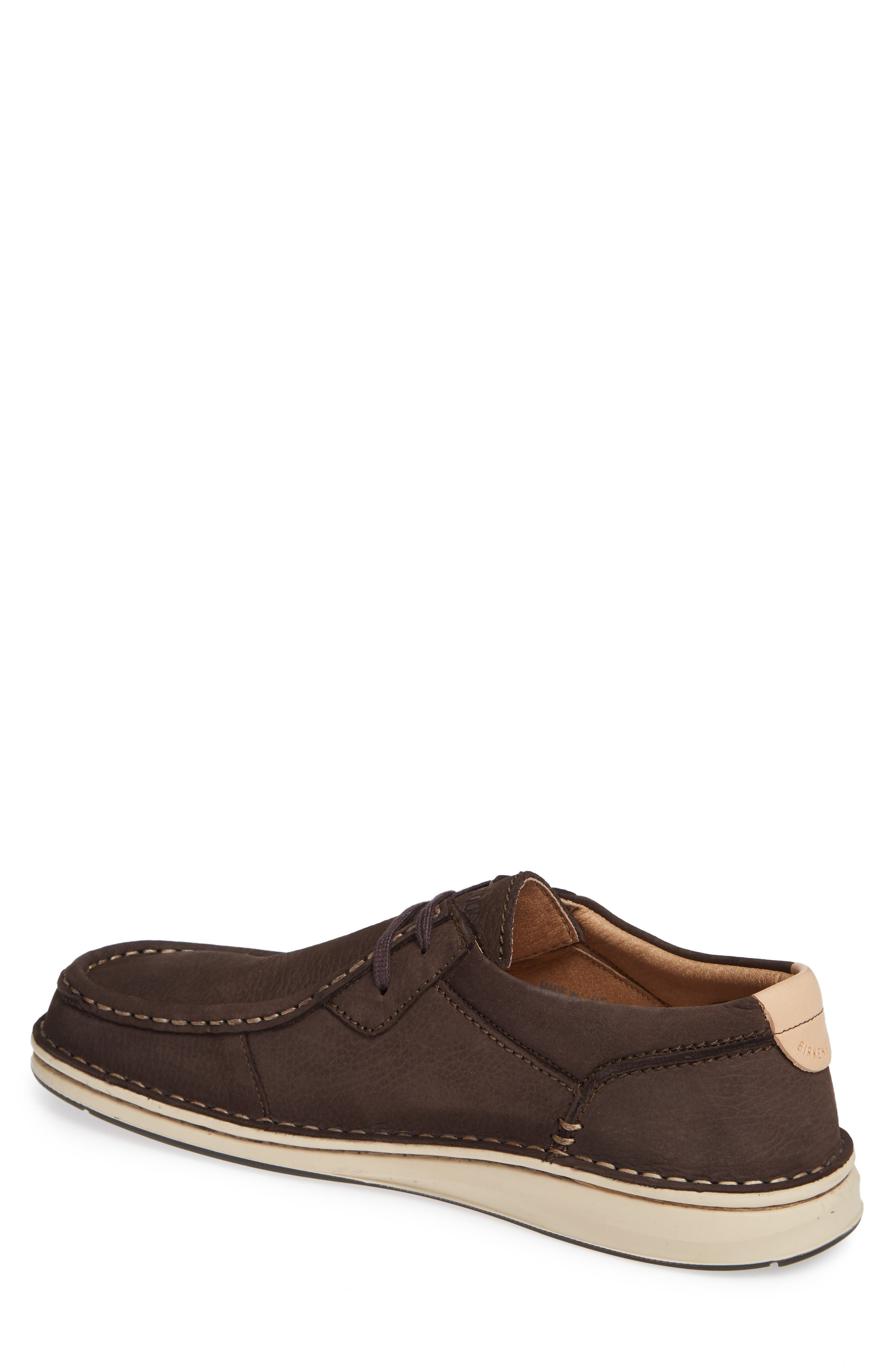 'Pasadena' Lace-Up Moccasin,                             Alternate thumbnail 2, color,                             BROWN