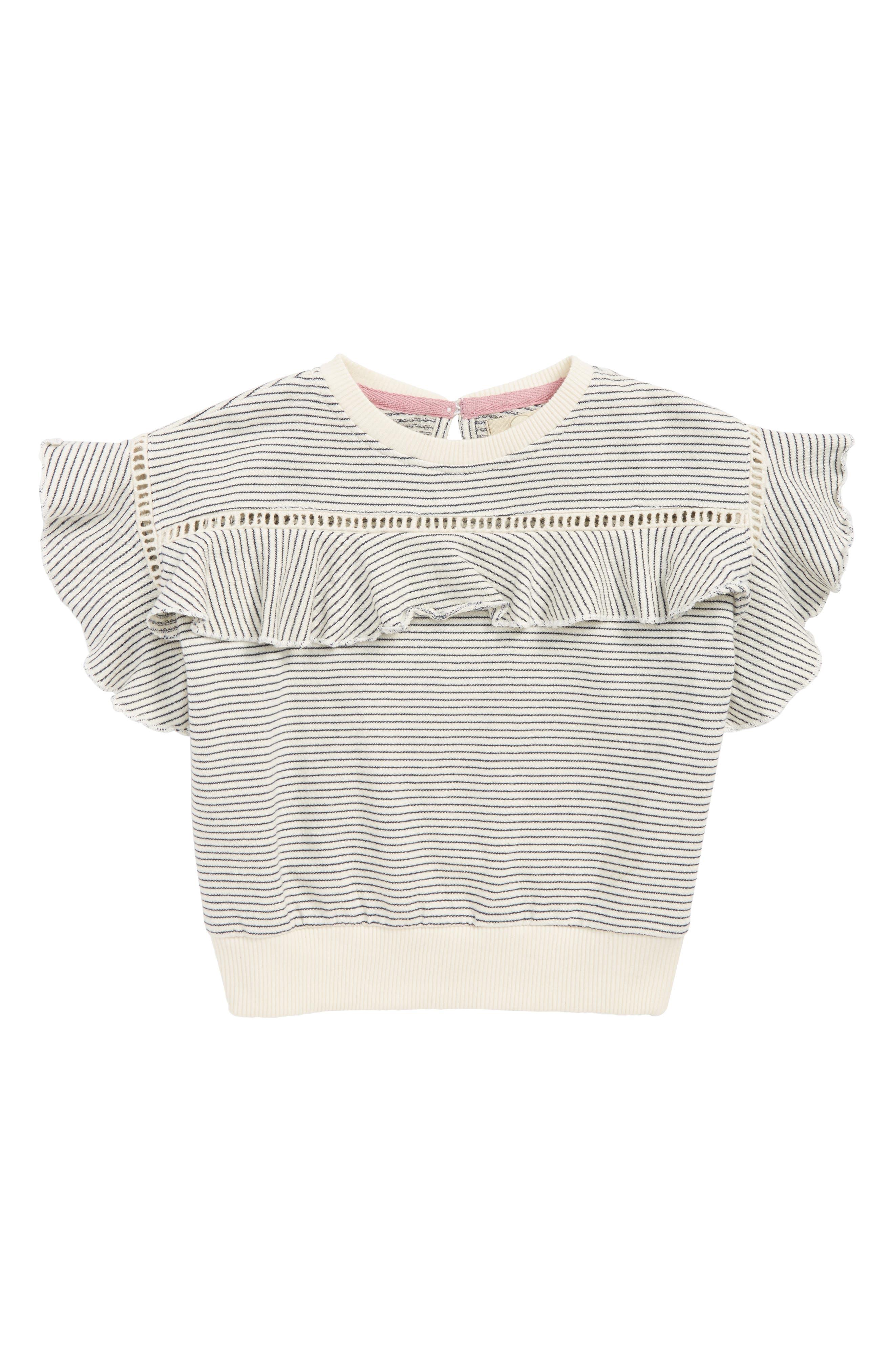 Amelia Ruffle Sweatshirt,                             Main thumbnail 1, color,                             900
