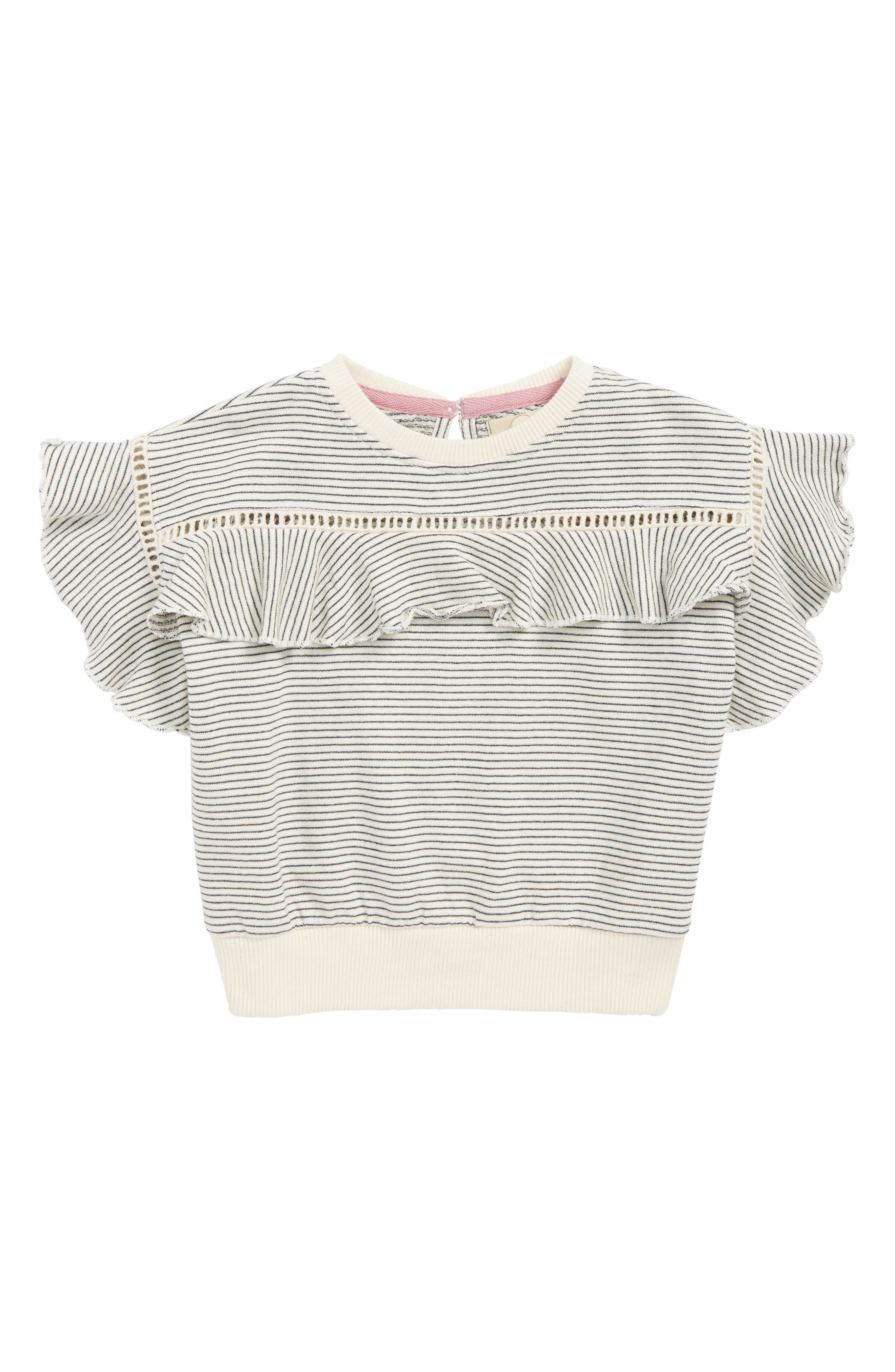 Amelia Ruffle Sweatshirt,                         Main,                         color, 900