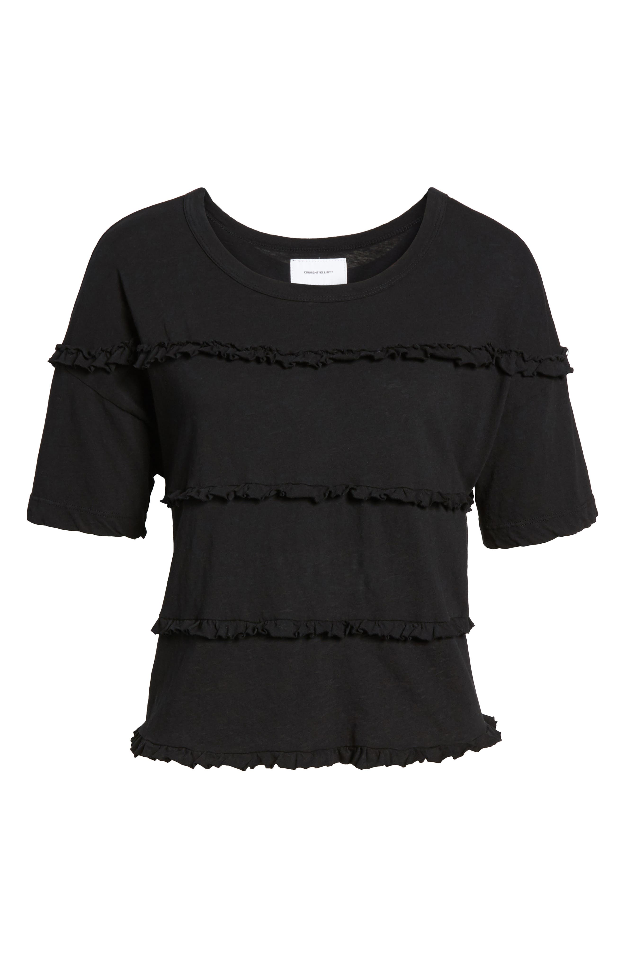 The Claudia Ruffle Tee,                             Alternate thumbnail 6, color,                             001
