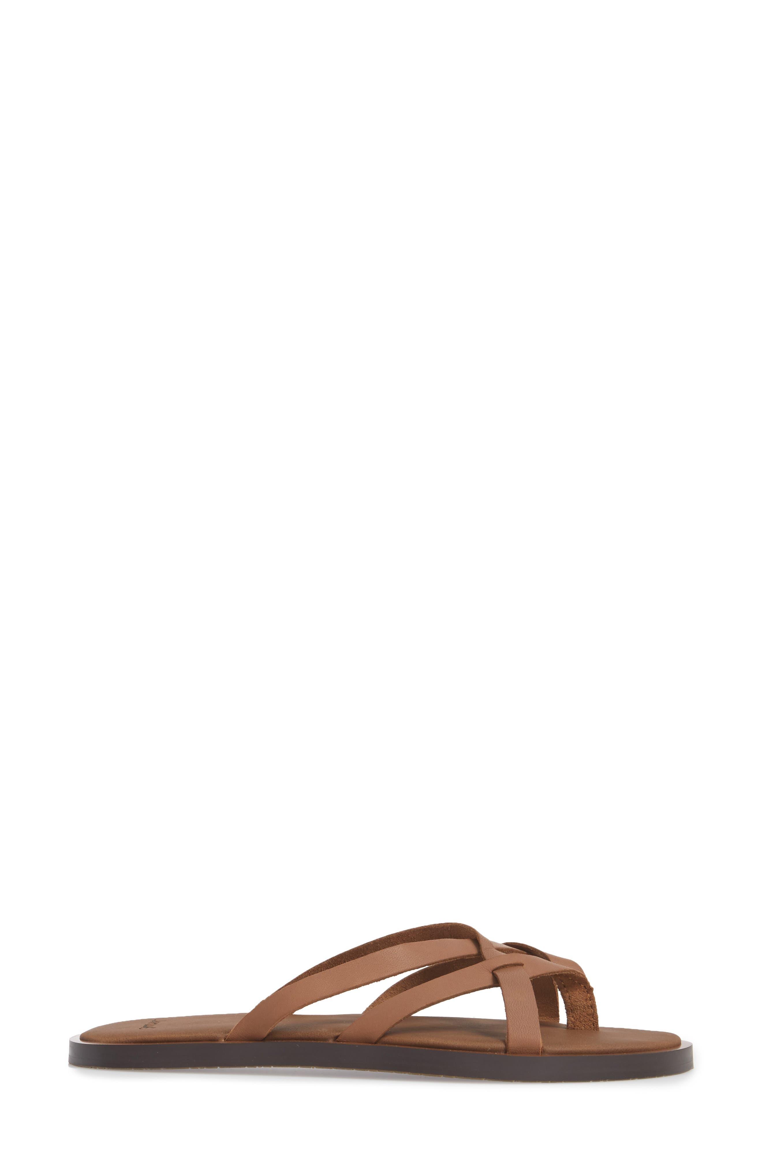 Yoga Strappy Thong Sandal,                             Alternate thumbnail 8, color,