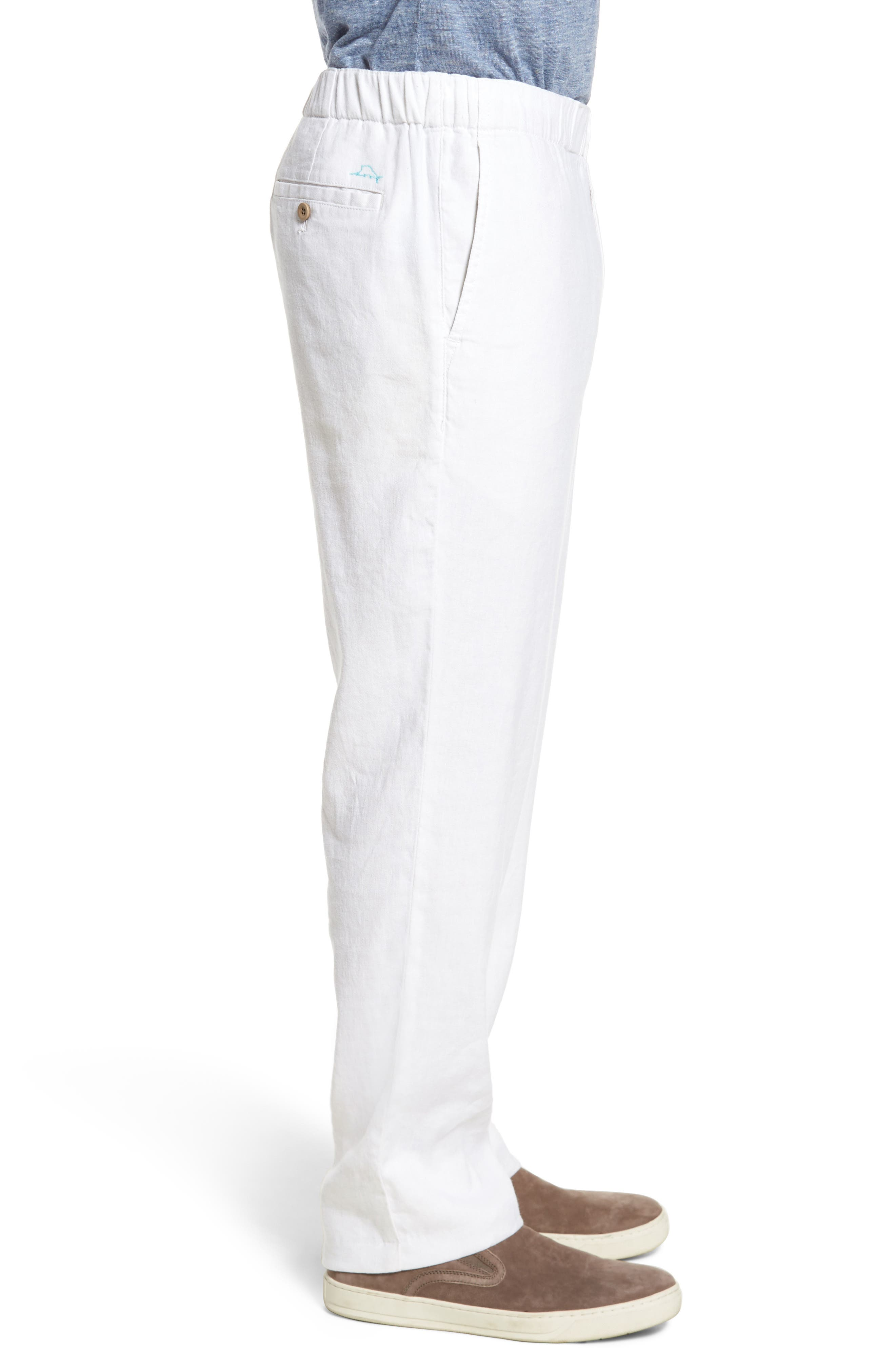 Relaxed Linen Pants,                             Alternate thumbnail 3, color,                             CONTINENTAL