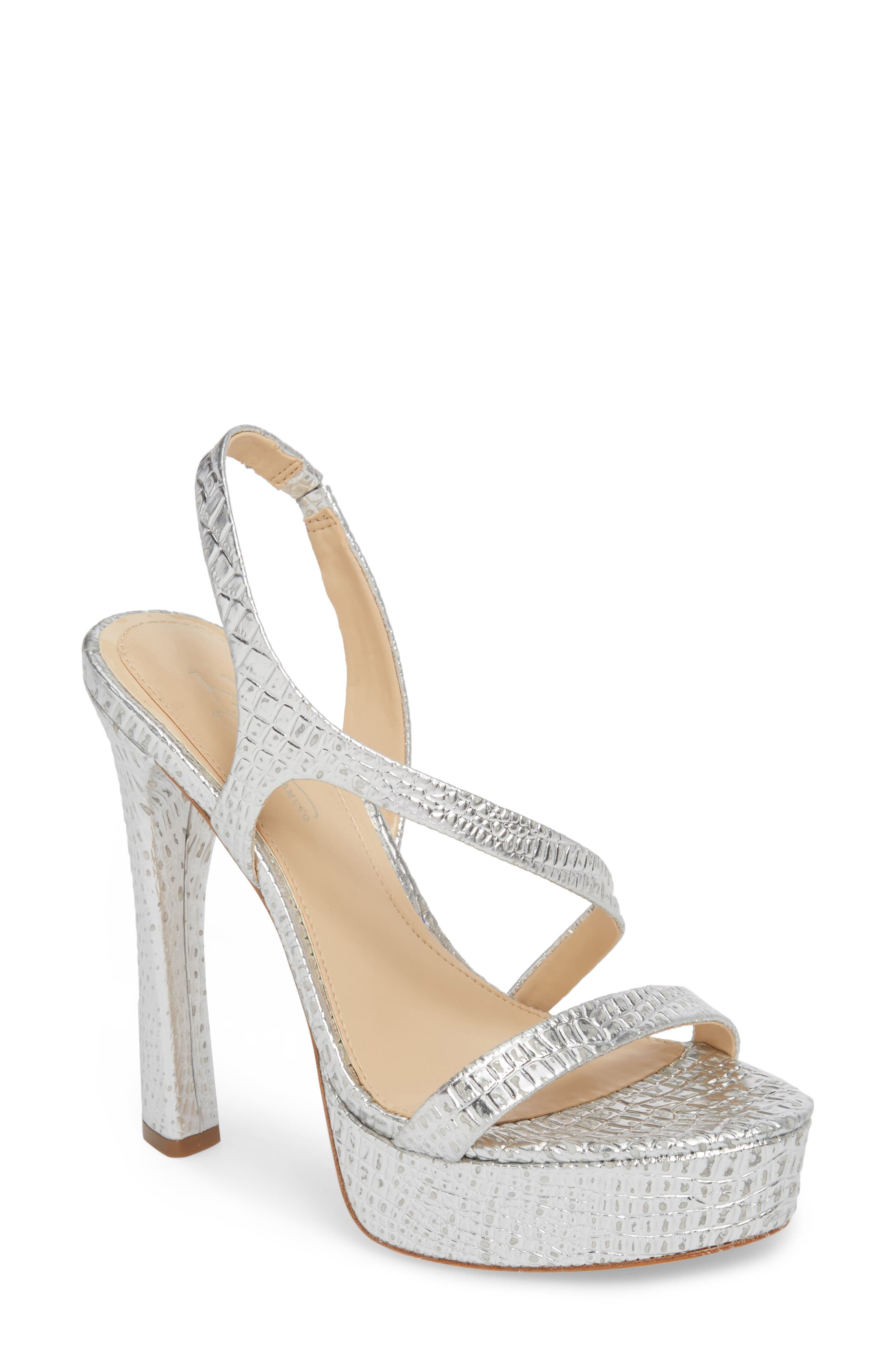 Imagine By Vince Camuto Prent Asymmetrical Platform Sandal- Metallic