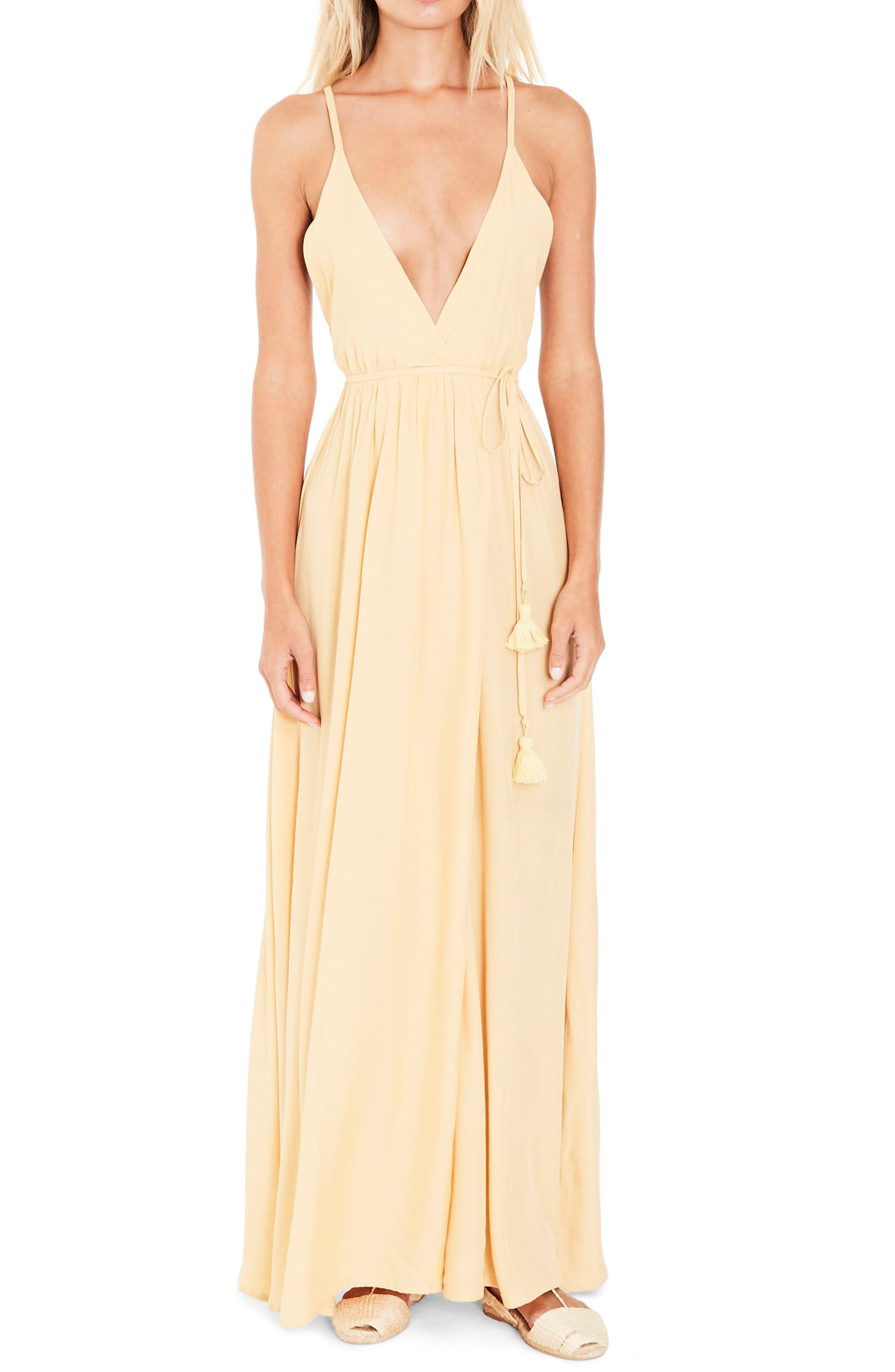 Santa Rose Strappy Maxi Dress,                             Alternate thumbnail 4, color,                             700