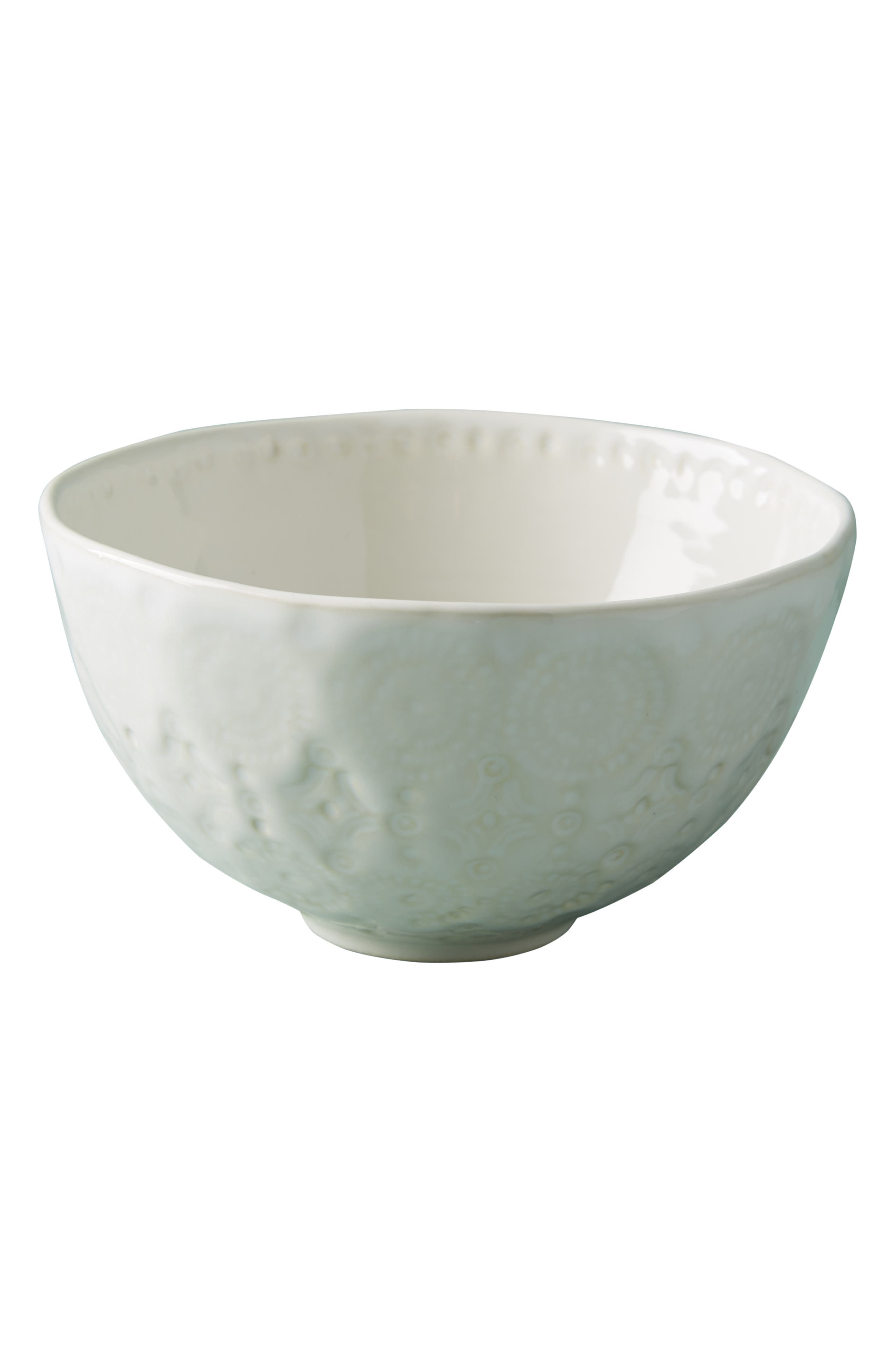 Old Havana Stoneware Cereal Bowl,                             Alternate thumbnail 3, color,                             WHITE
