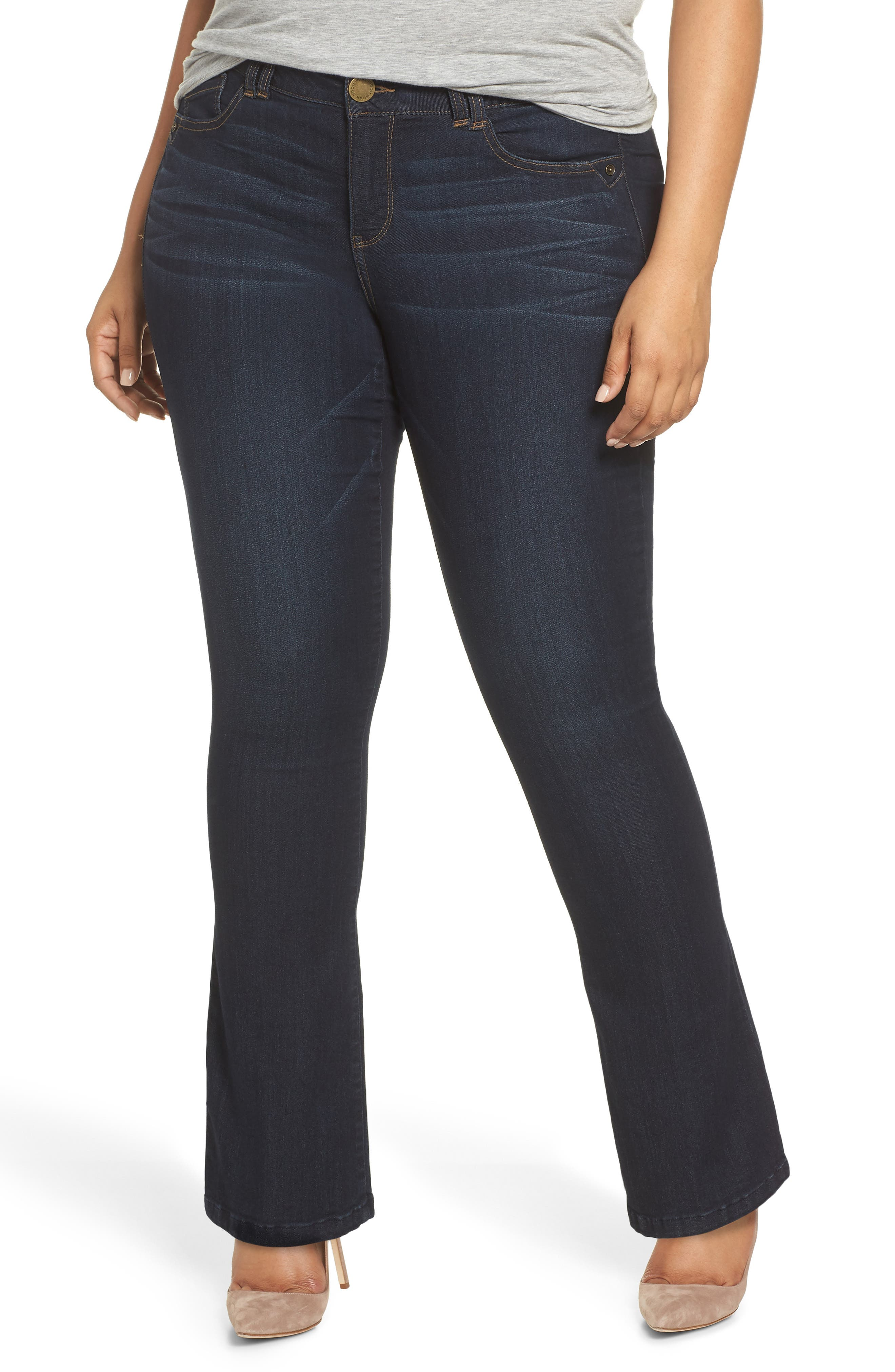 'Itty Bitty' Bootcut Jeans,                         Main,                         color, INDIGO